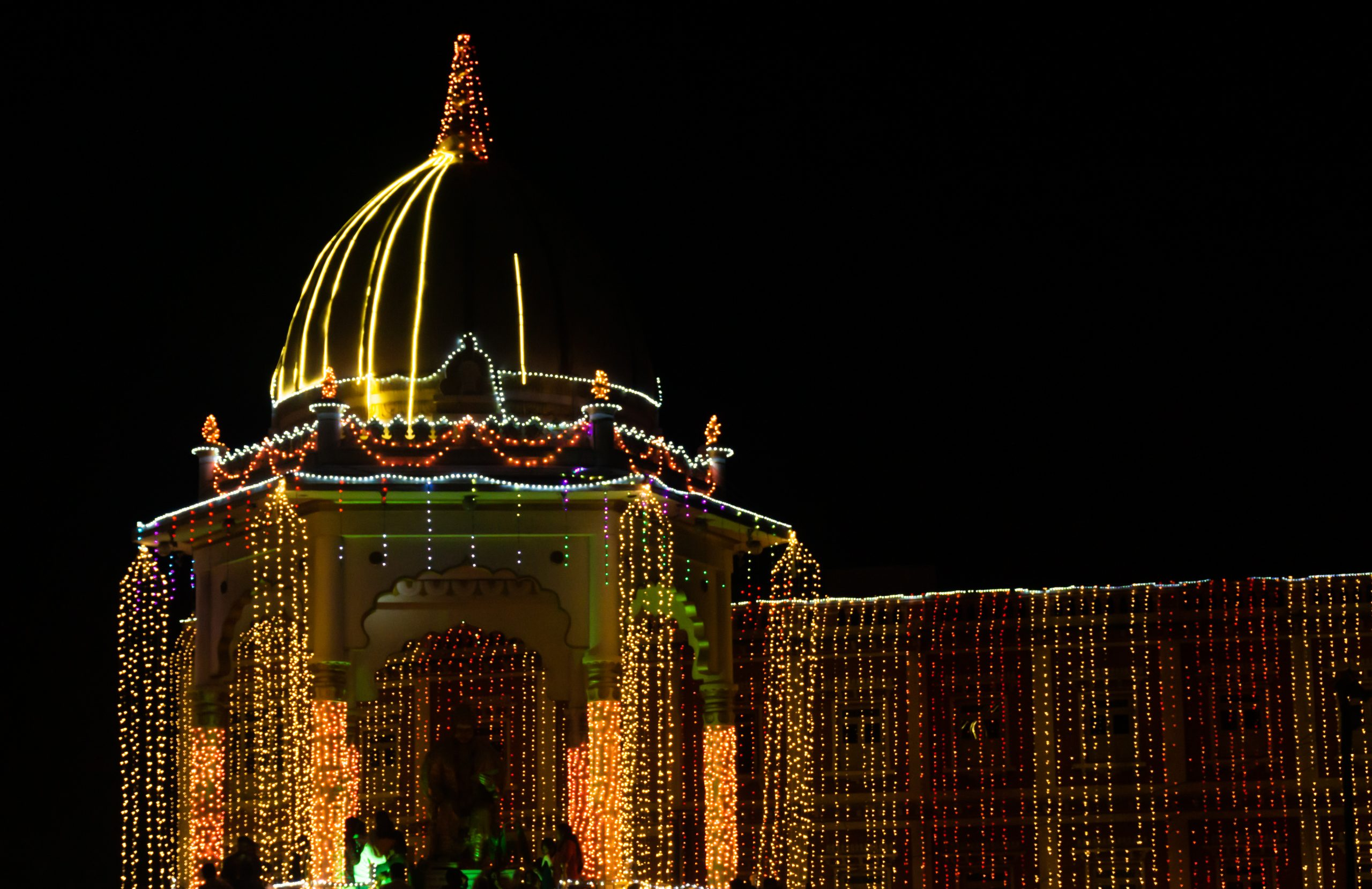 Lighting of a temple