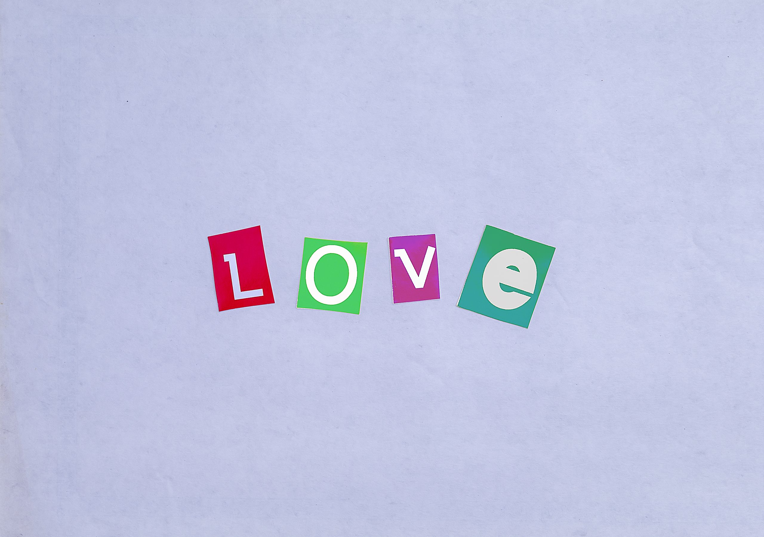Love written with stickers