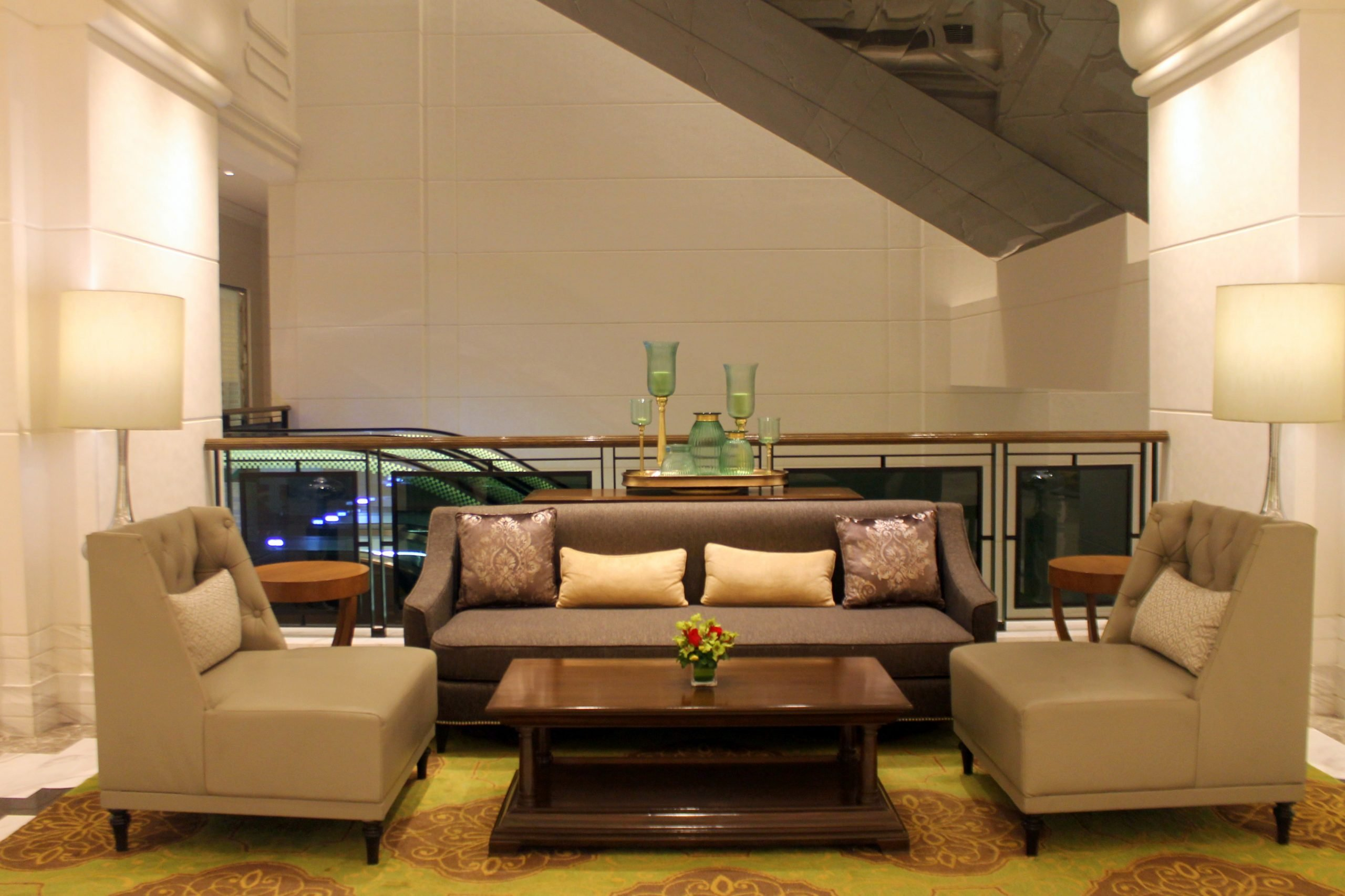 Luxury furniture in a room