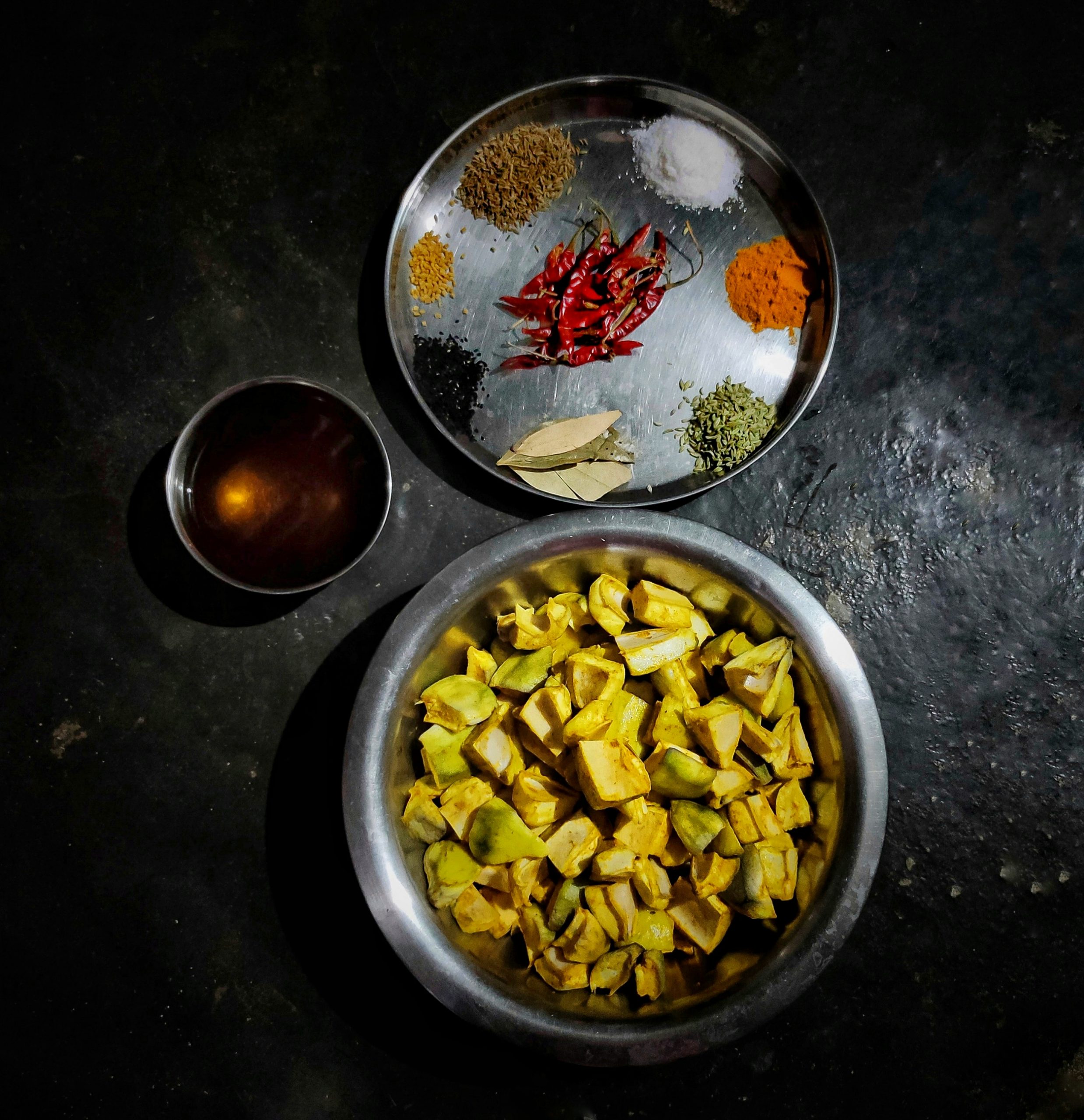 Making of mango pickle