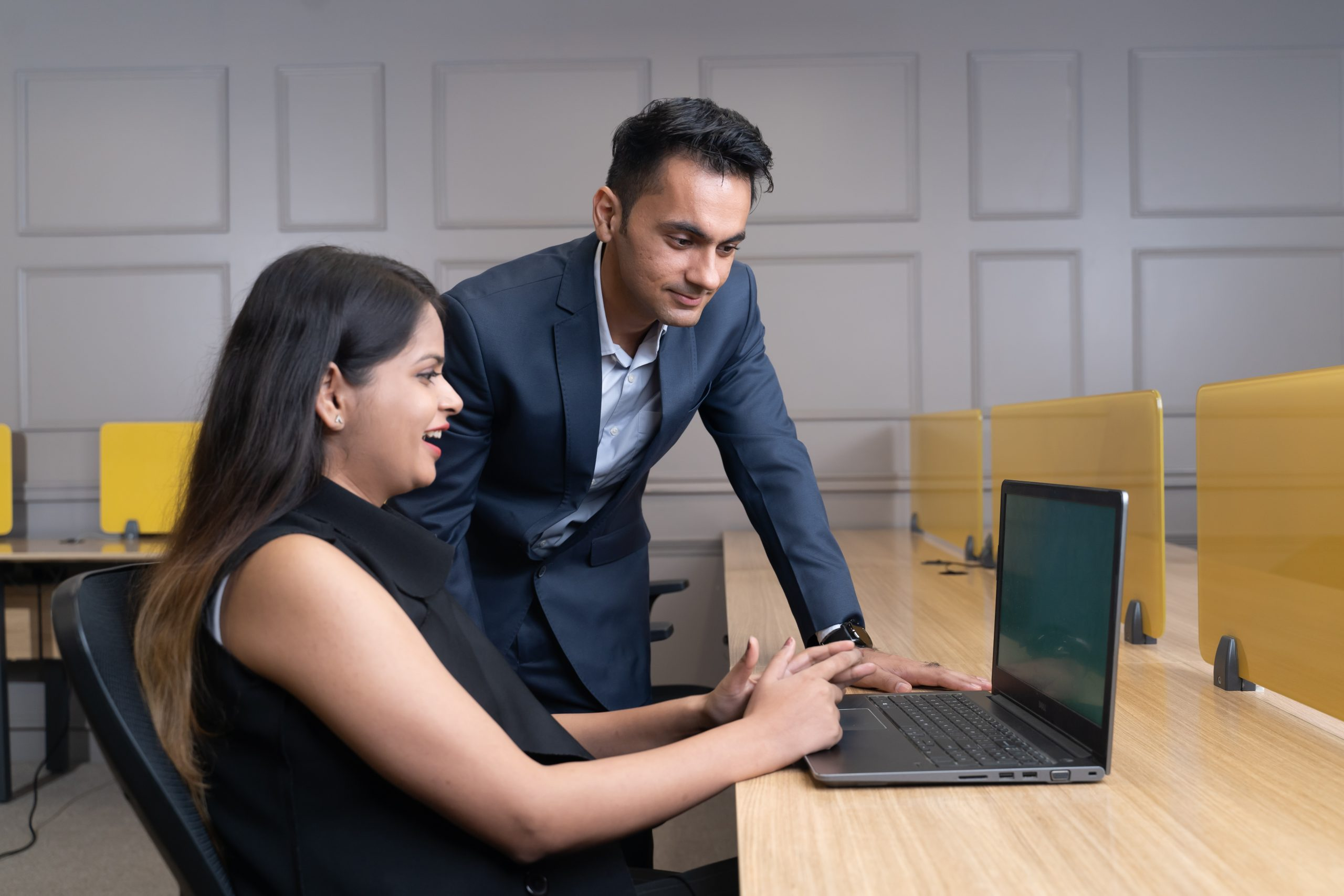 Manager happy with employee work