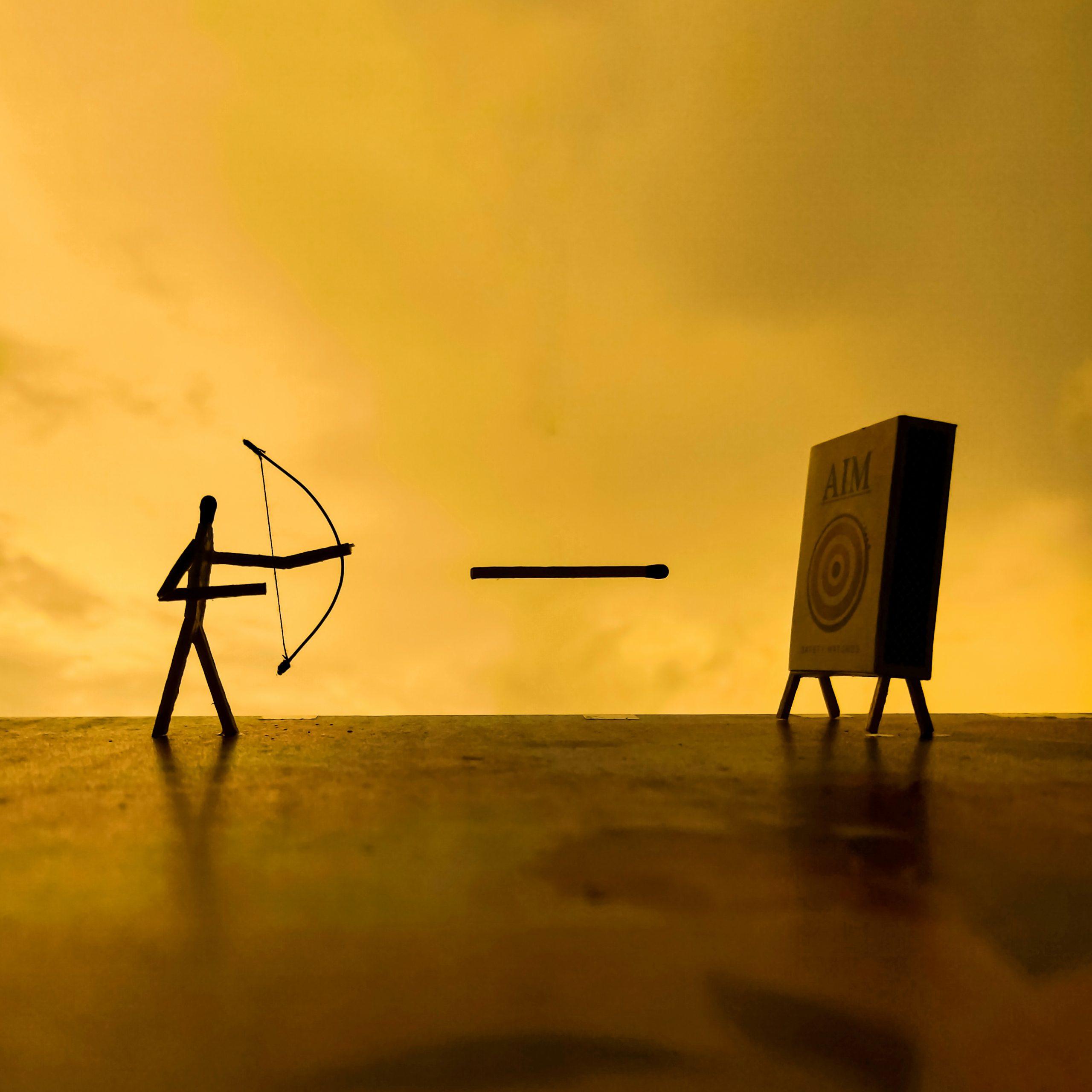 archer with matchsticks