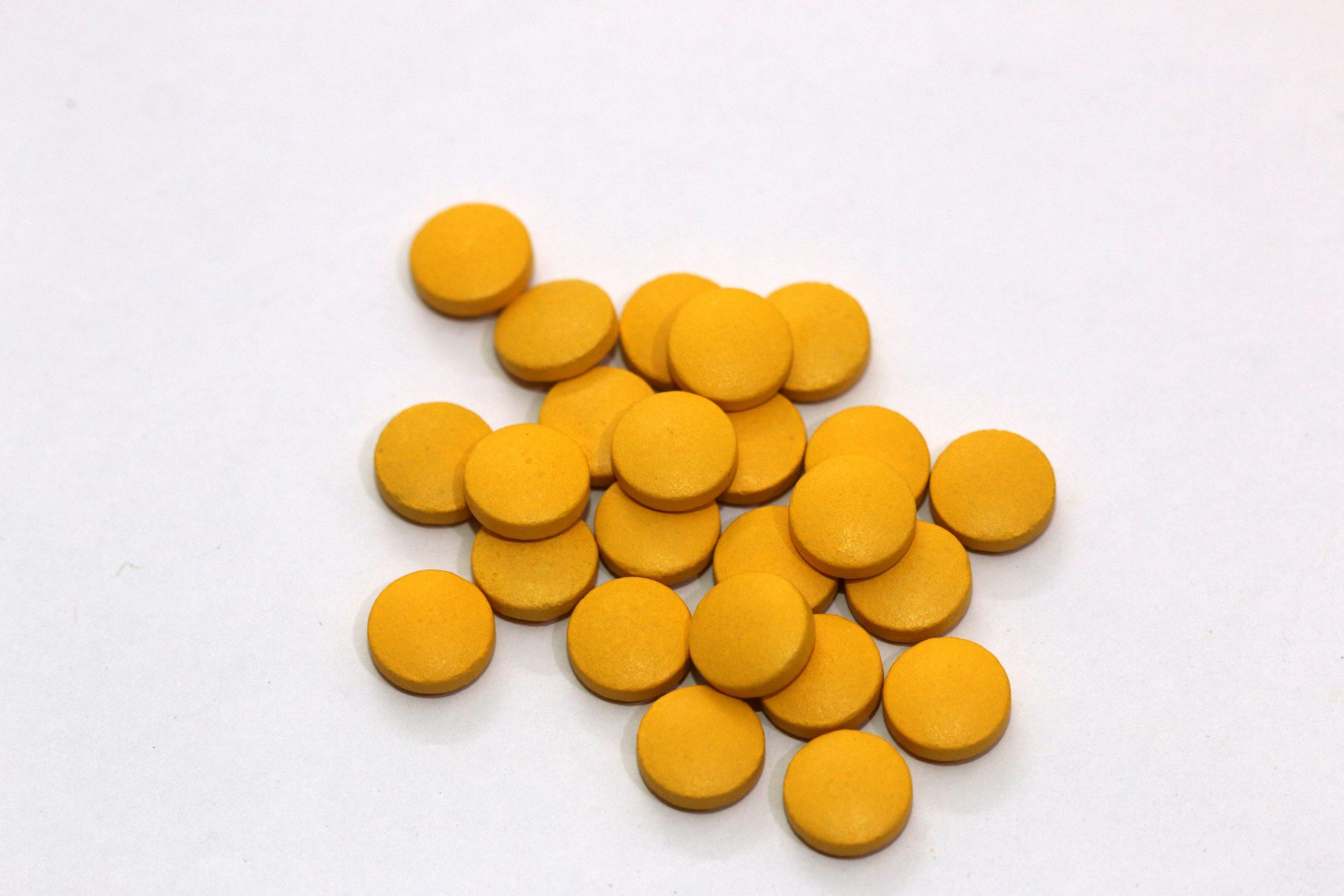 Yellow pills.