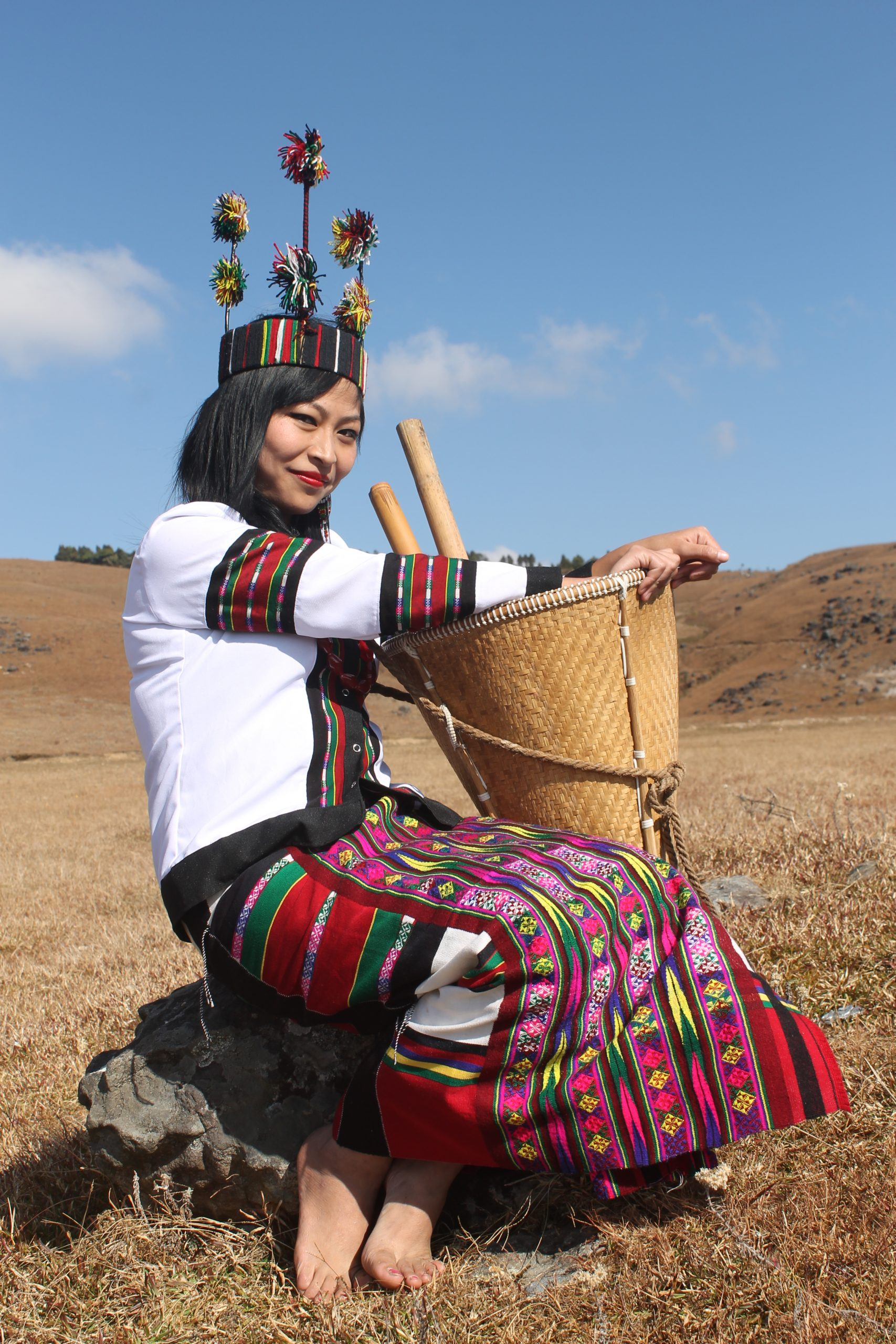 A girl in cultural dress from Meghalaya, India