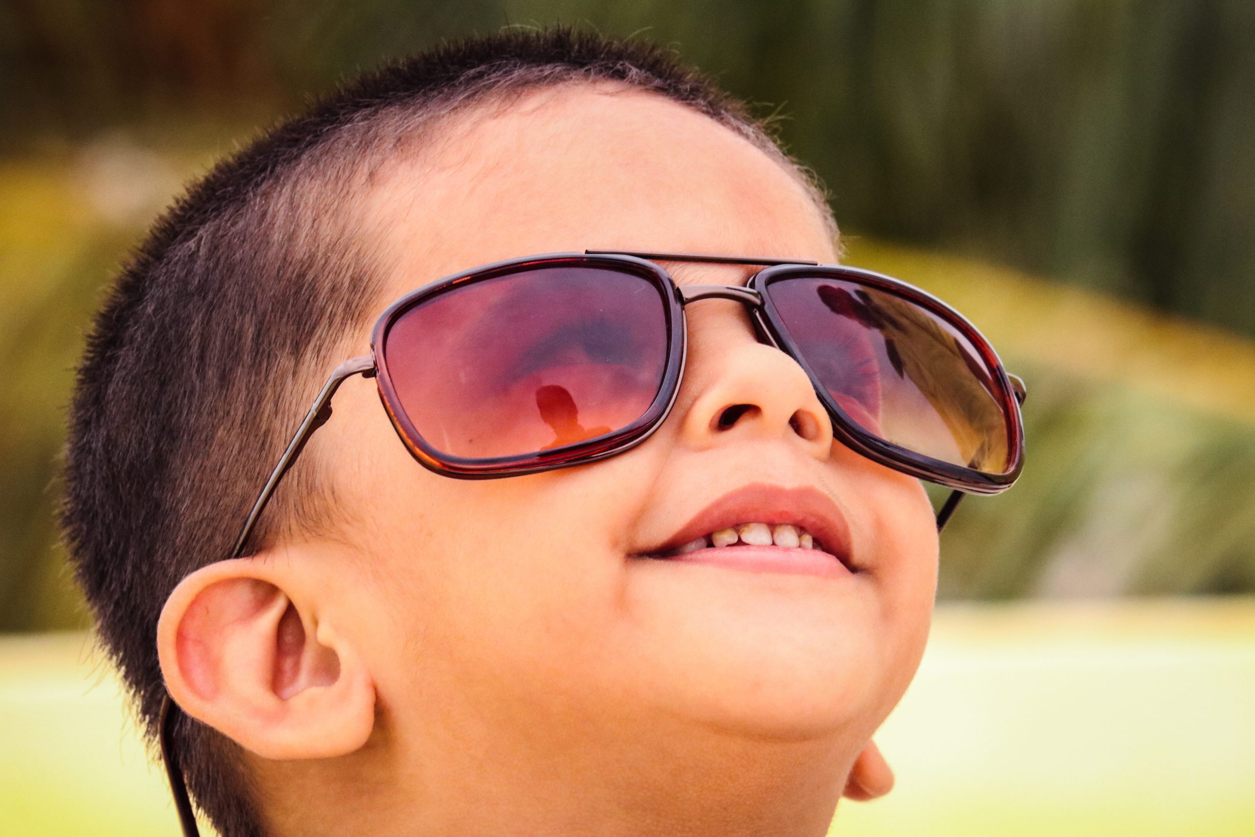 kid with sunglasses
