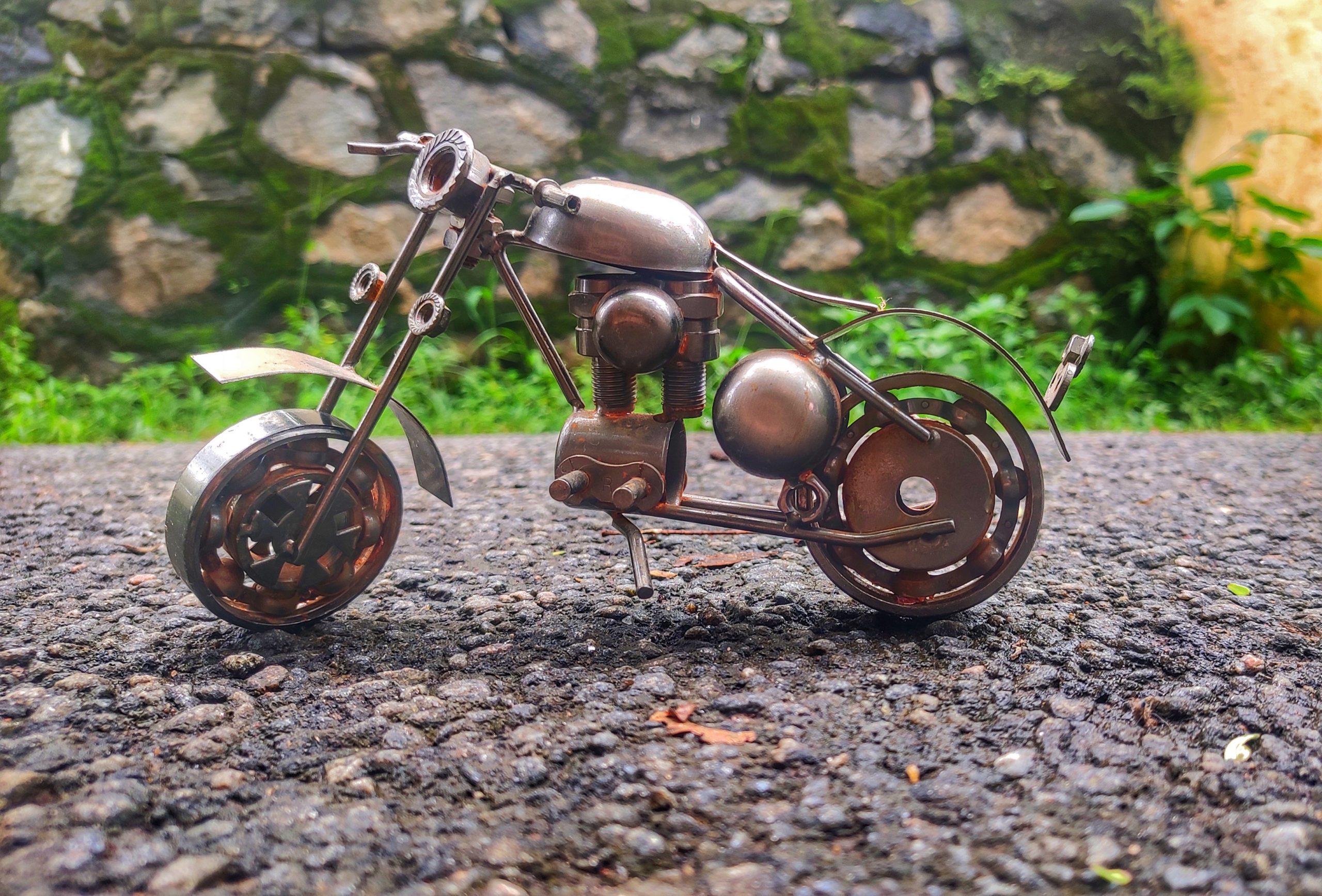 A miniature of moto bike
