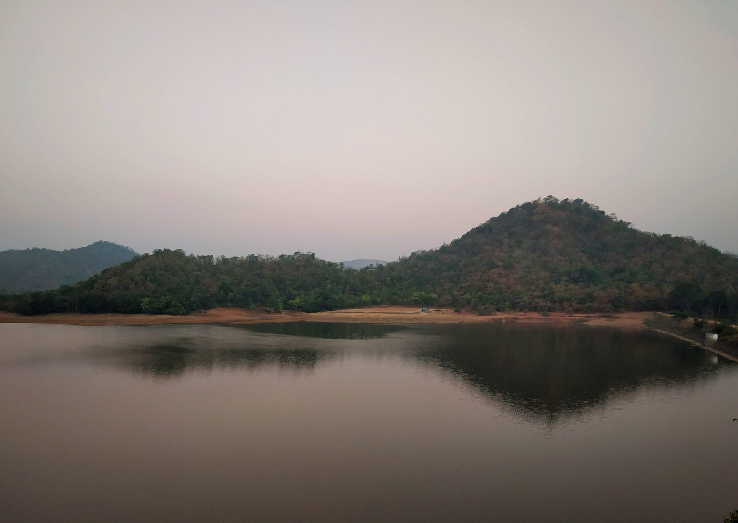 A landscape of Jambughoda Wildlife Sanctury.