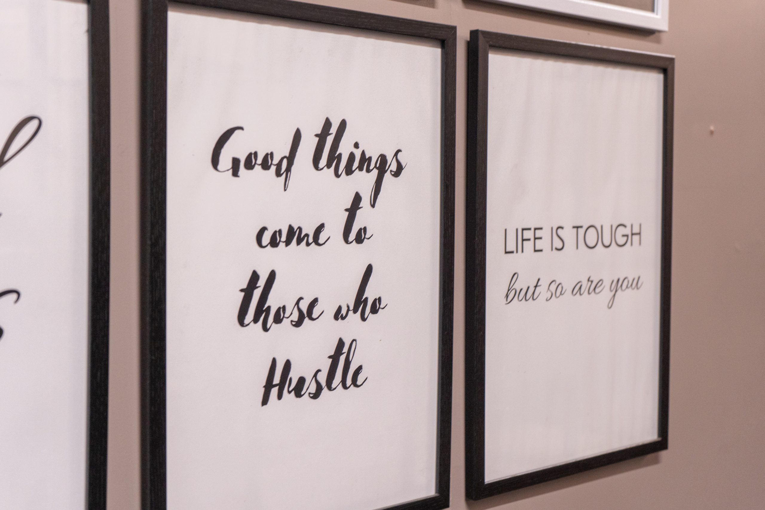 Motivational quotes written on wall