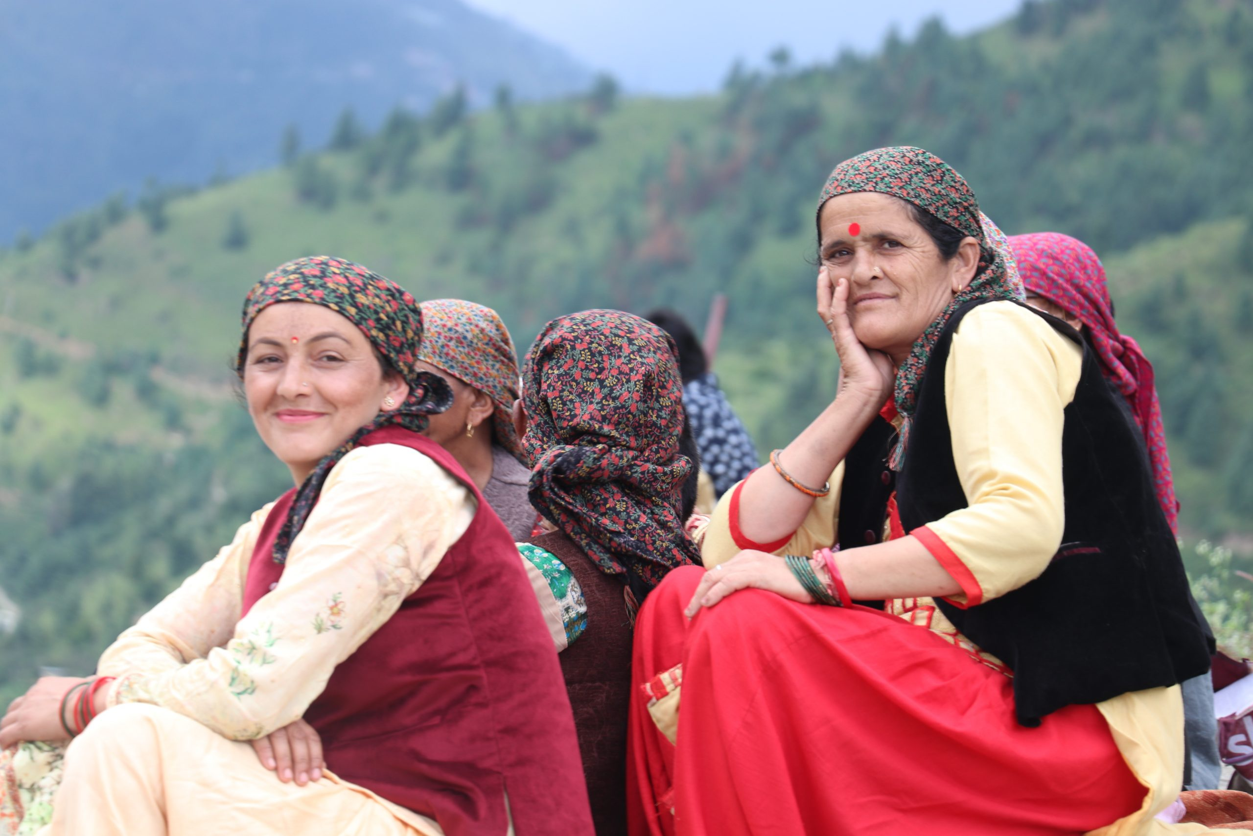 Mountainous women of Himachal