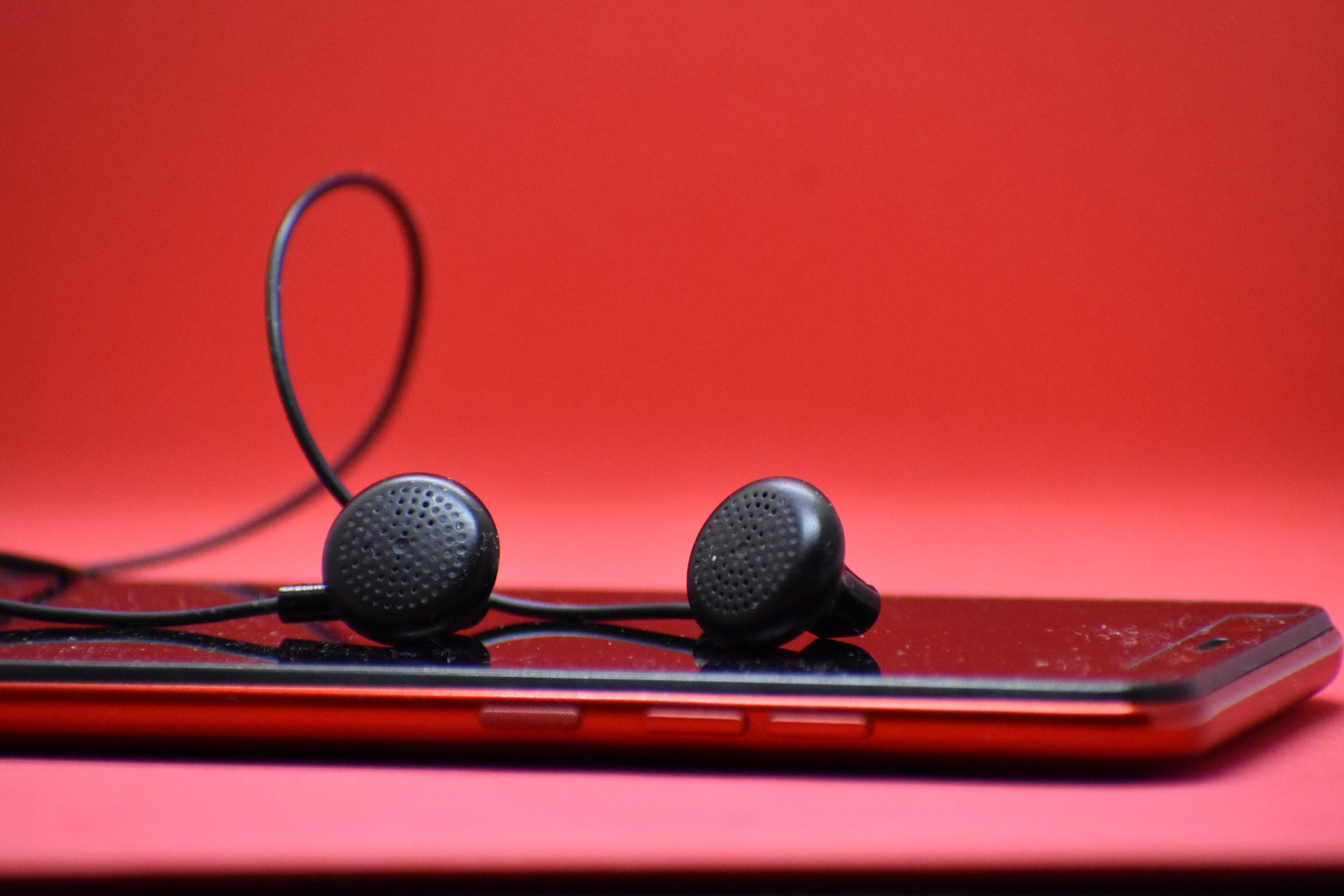 earphones and mobile