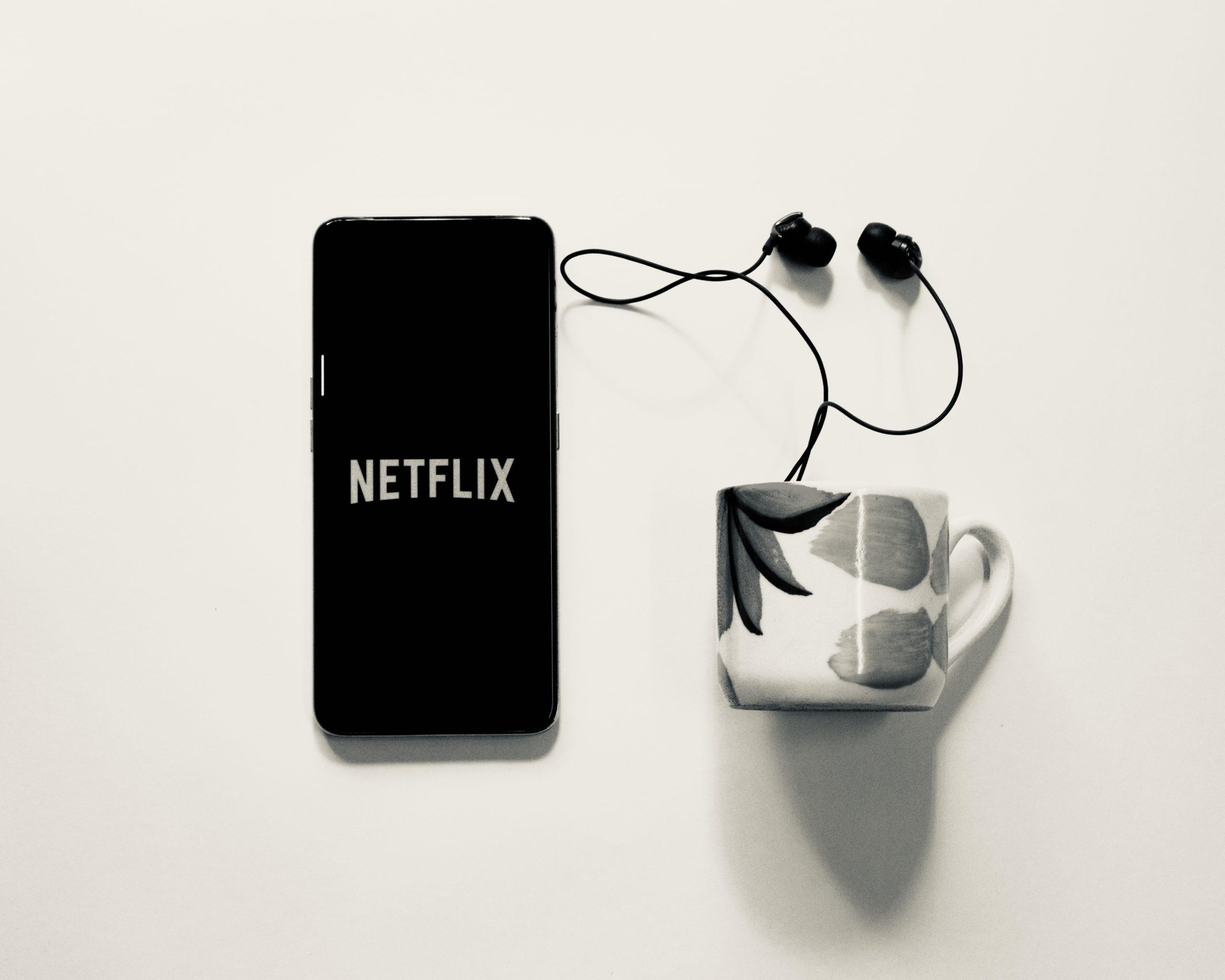 Netflix smartphone display