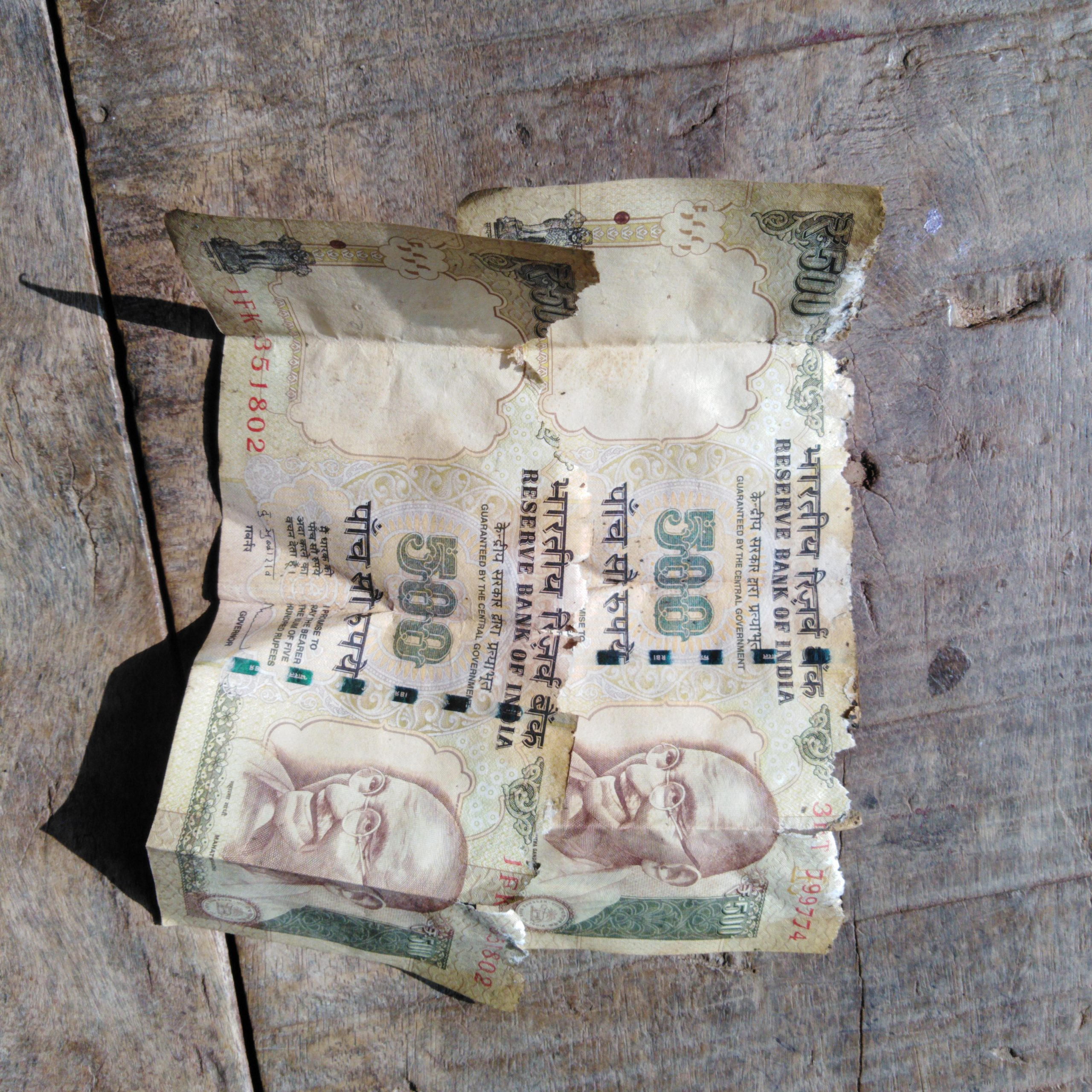 old 500 rupee notes