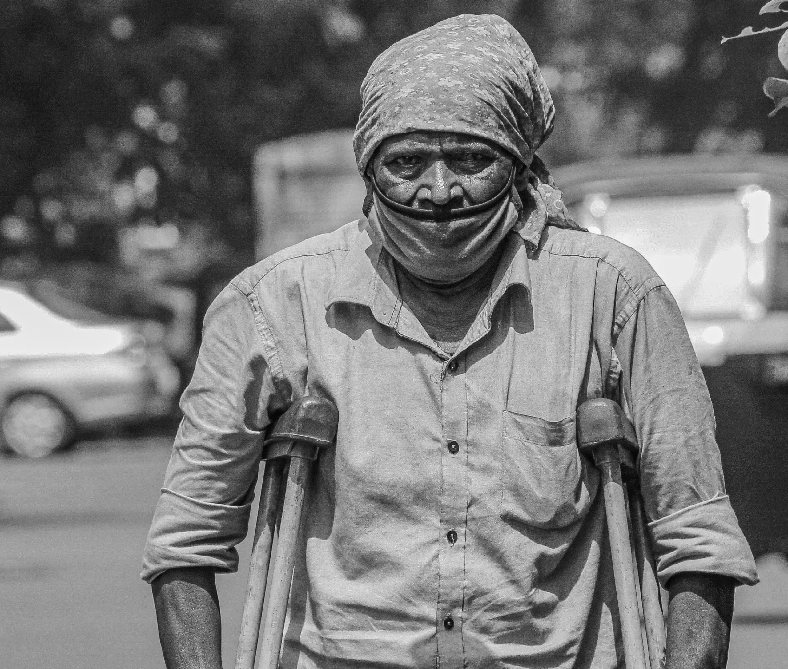 handicapped man on the street