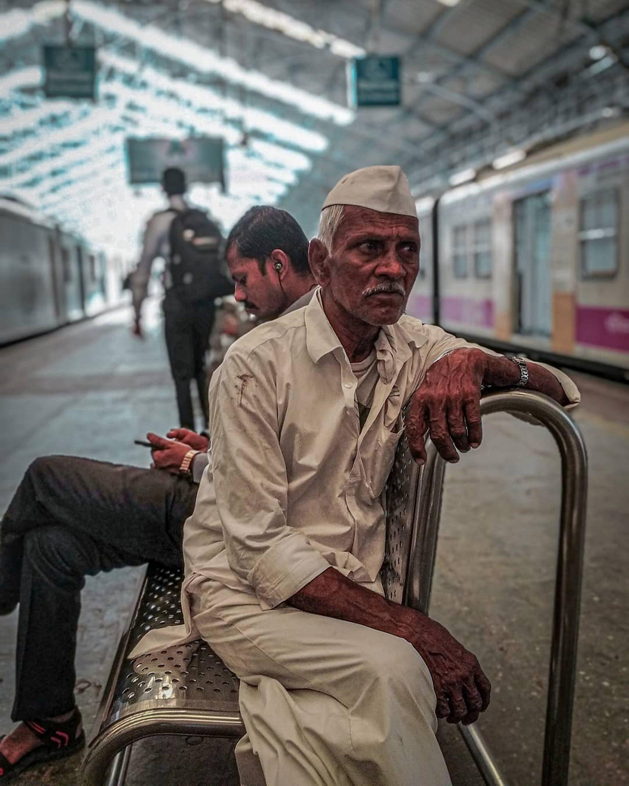 Old Man At Platform