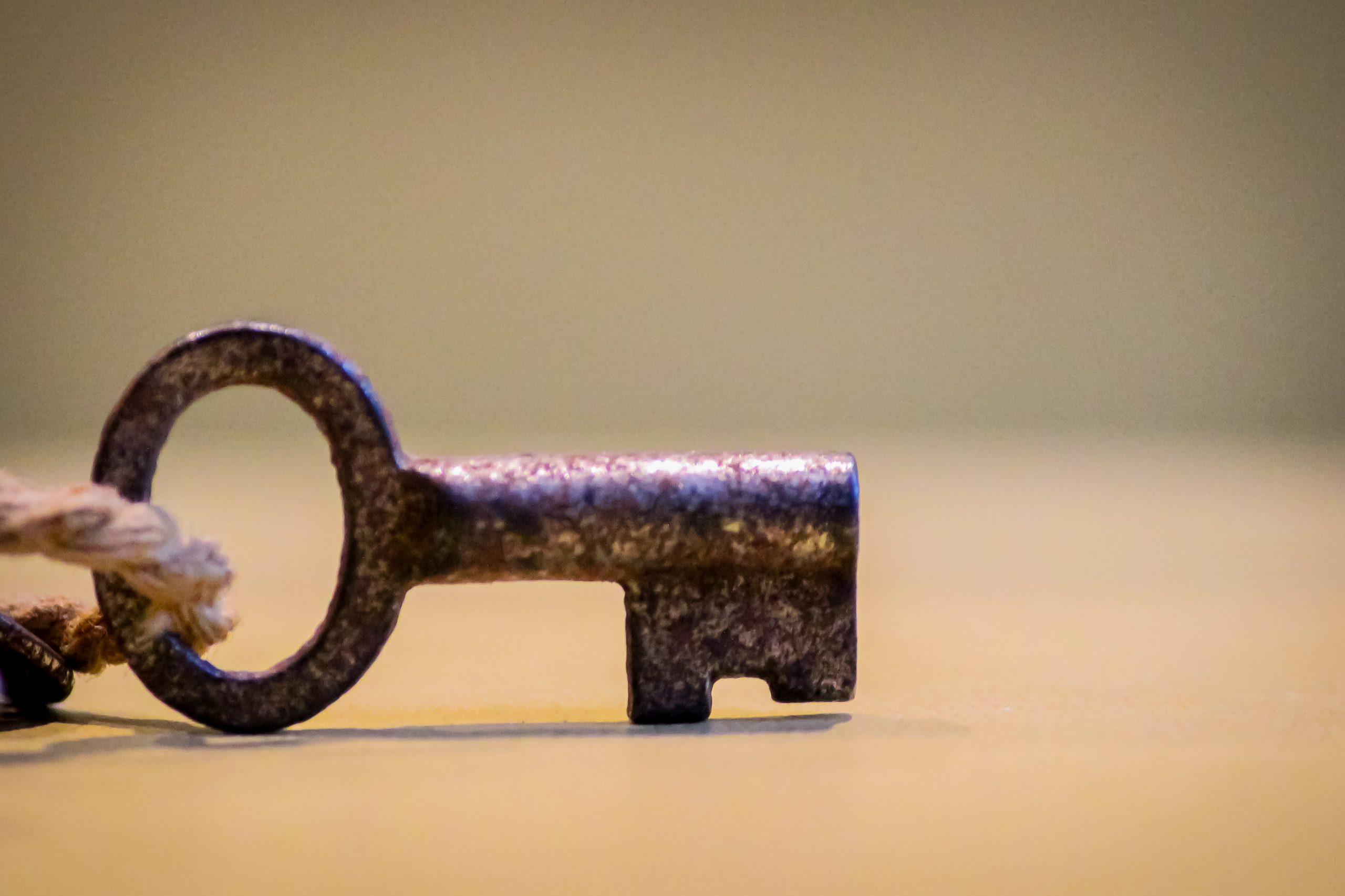 rusted key