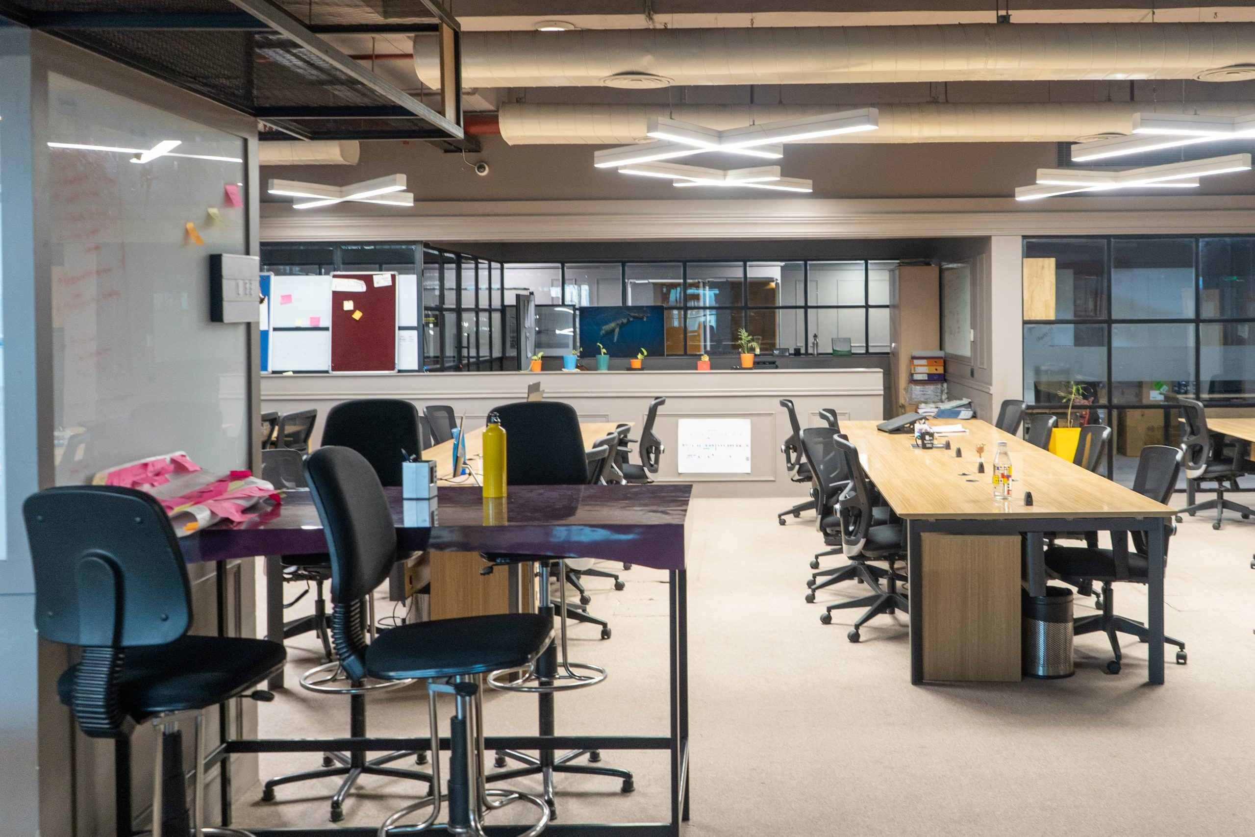 Open space of an office