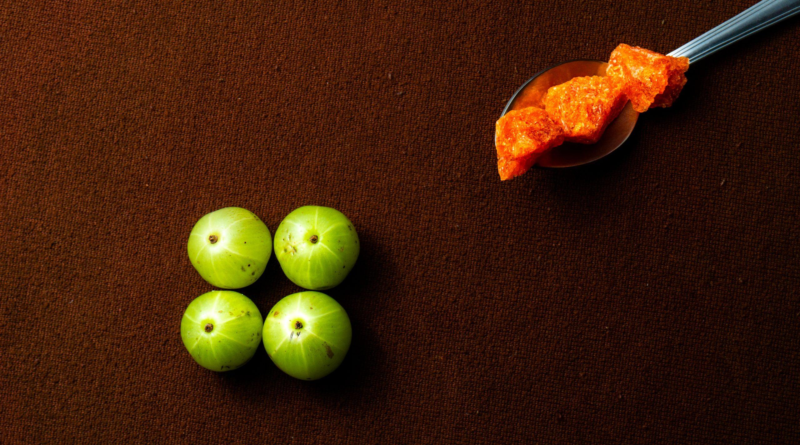 Organic fruit and palm sugar