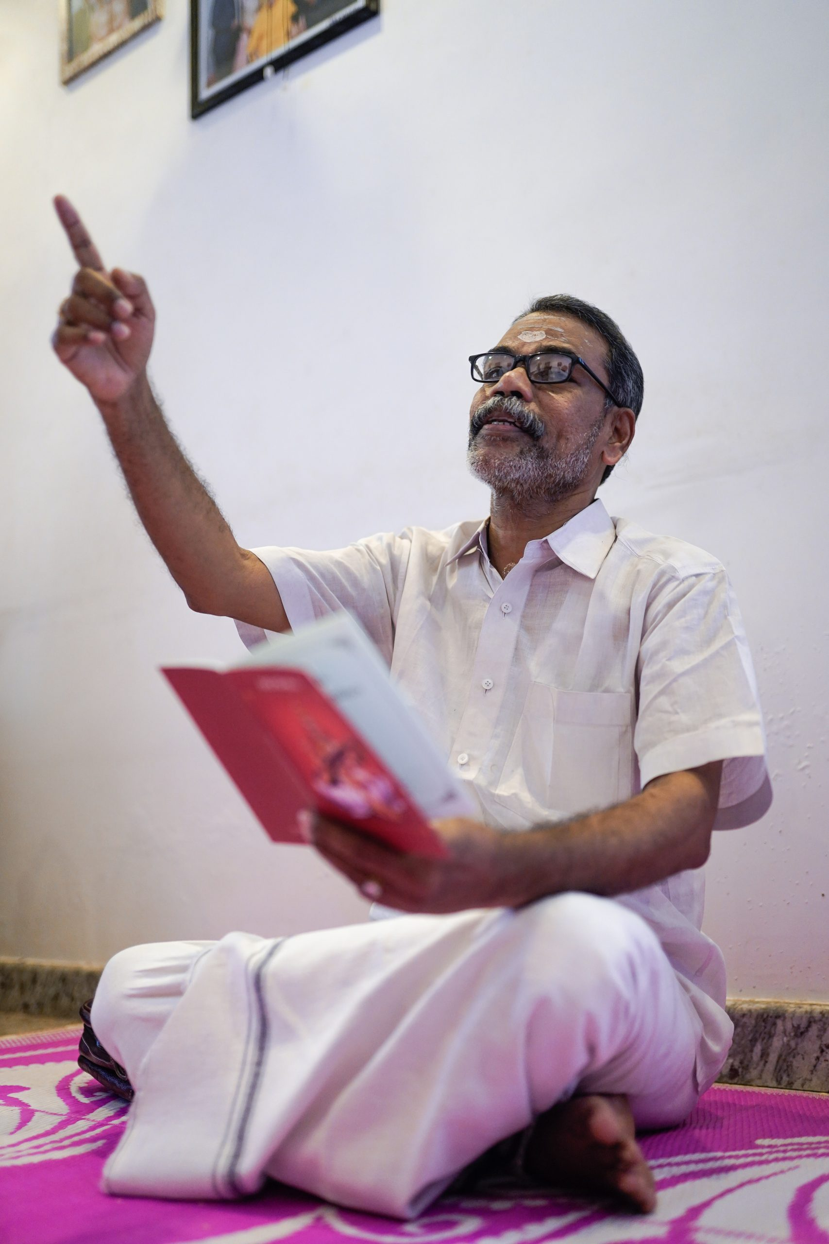 A priest reading chants