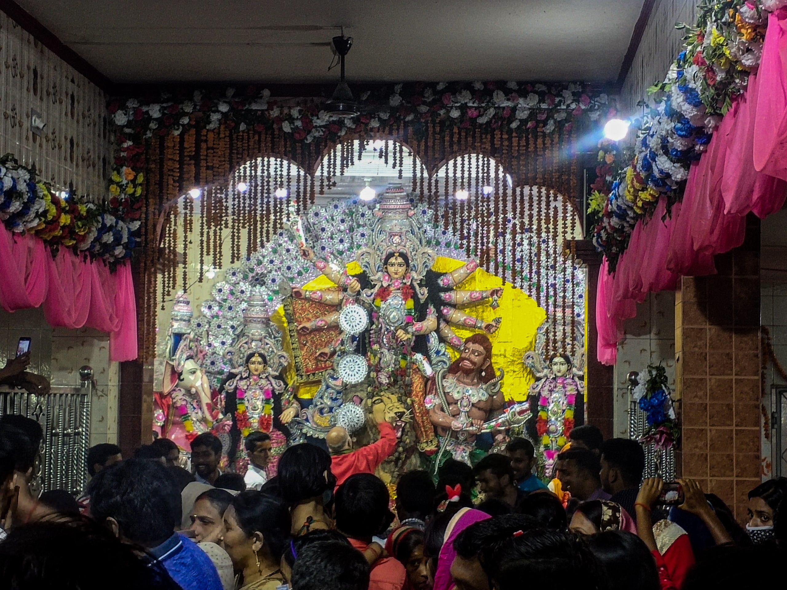 People at Goddess Durga Temple
