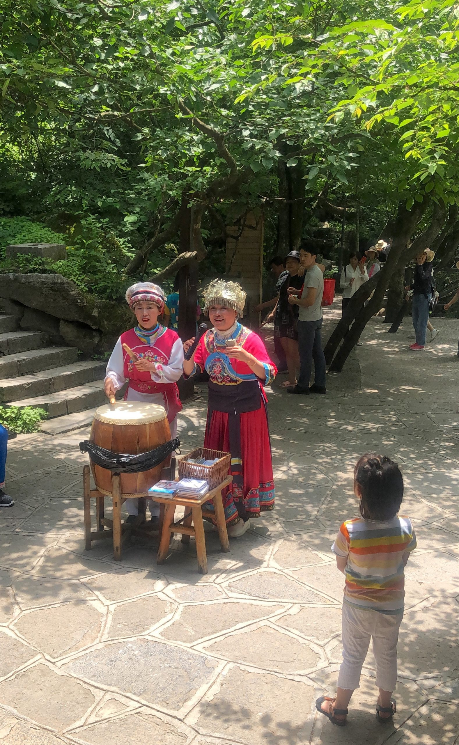 People performing in a park