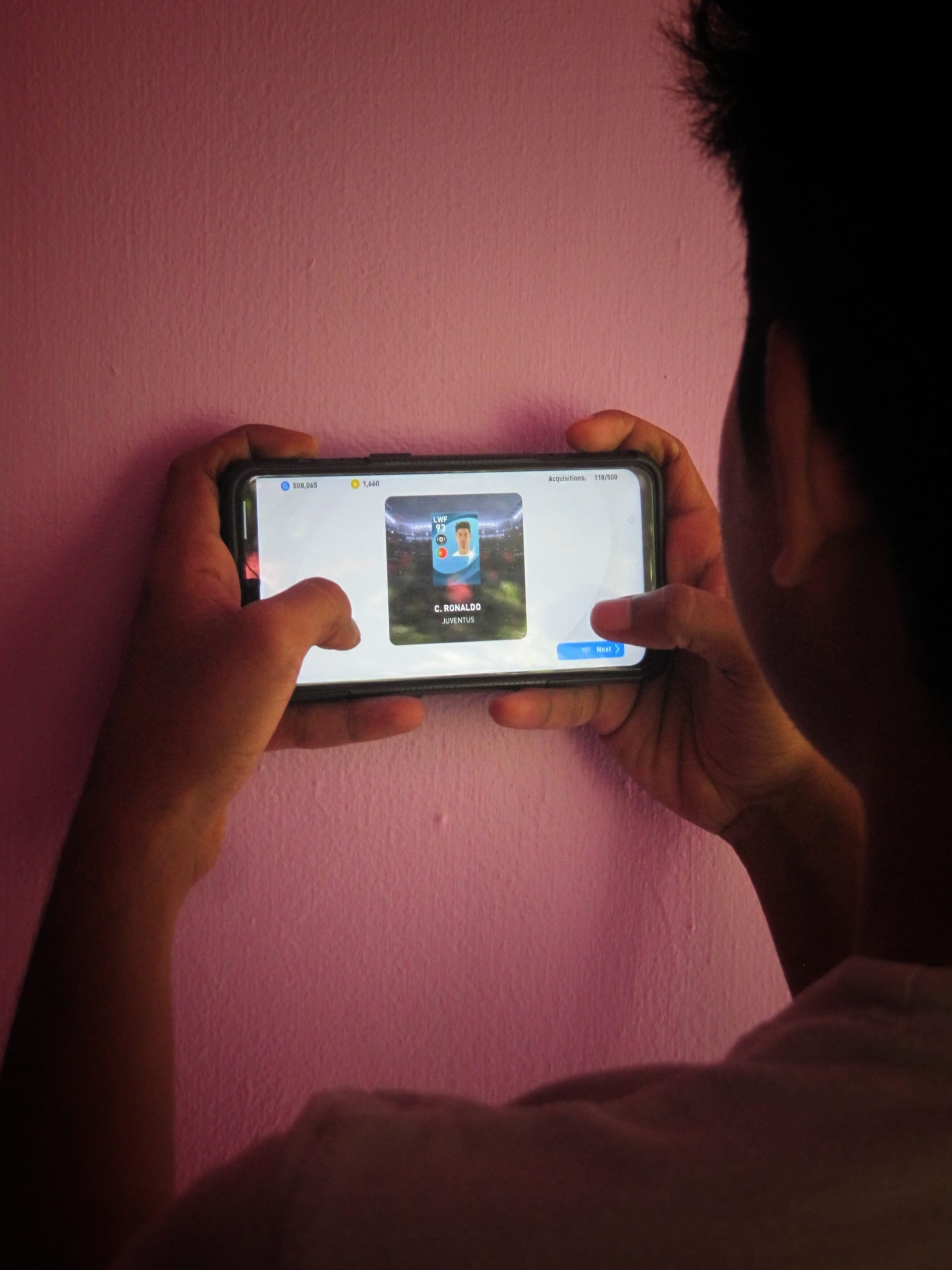 Playing a game in smartphone