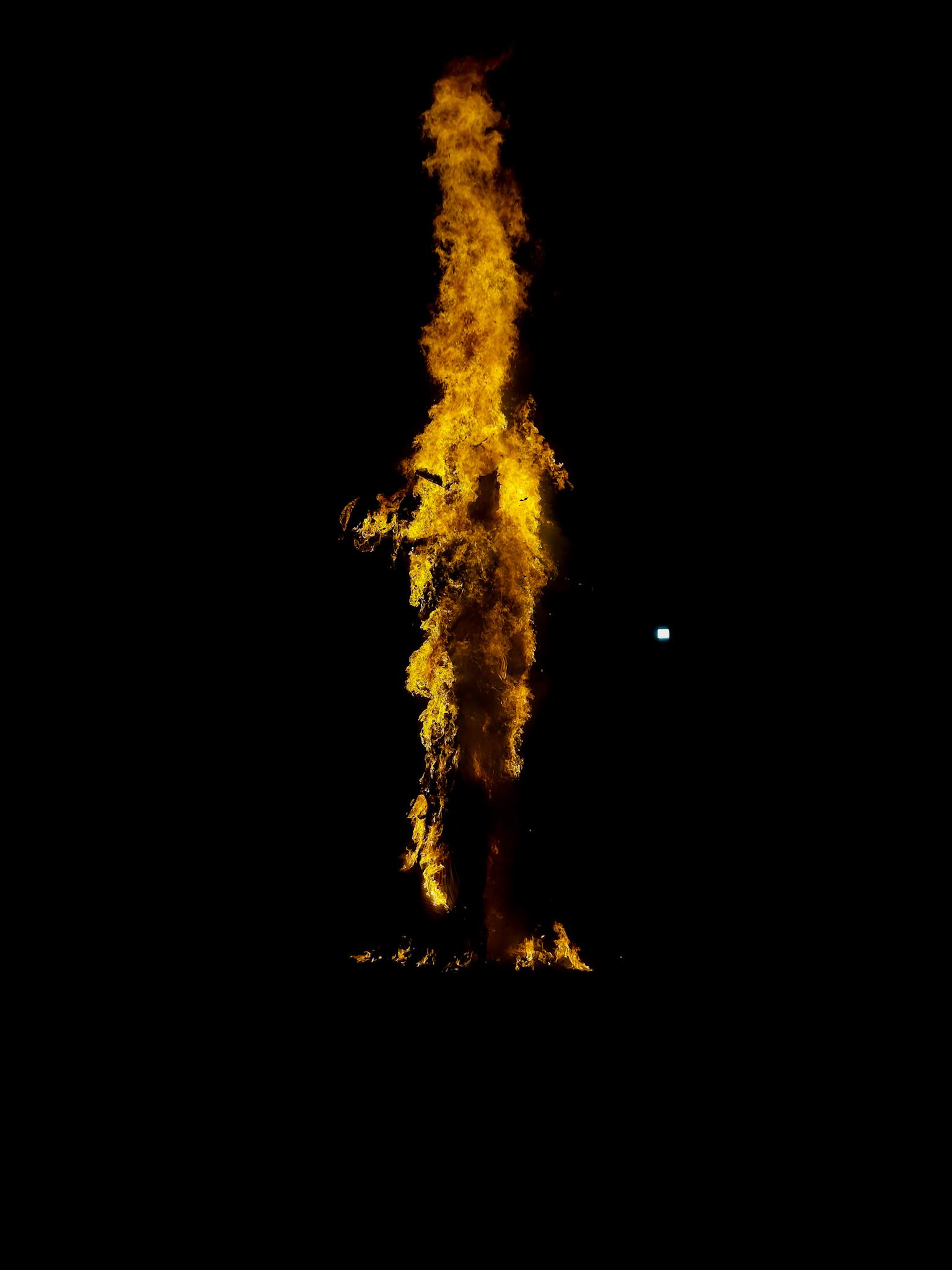 burning ravan effigy