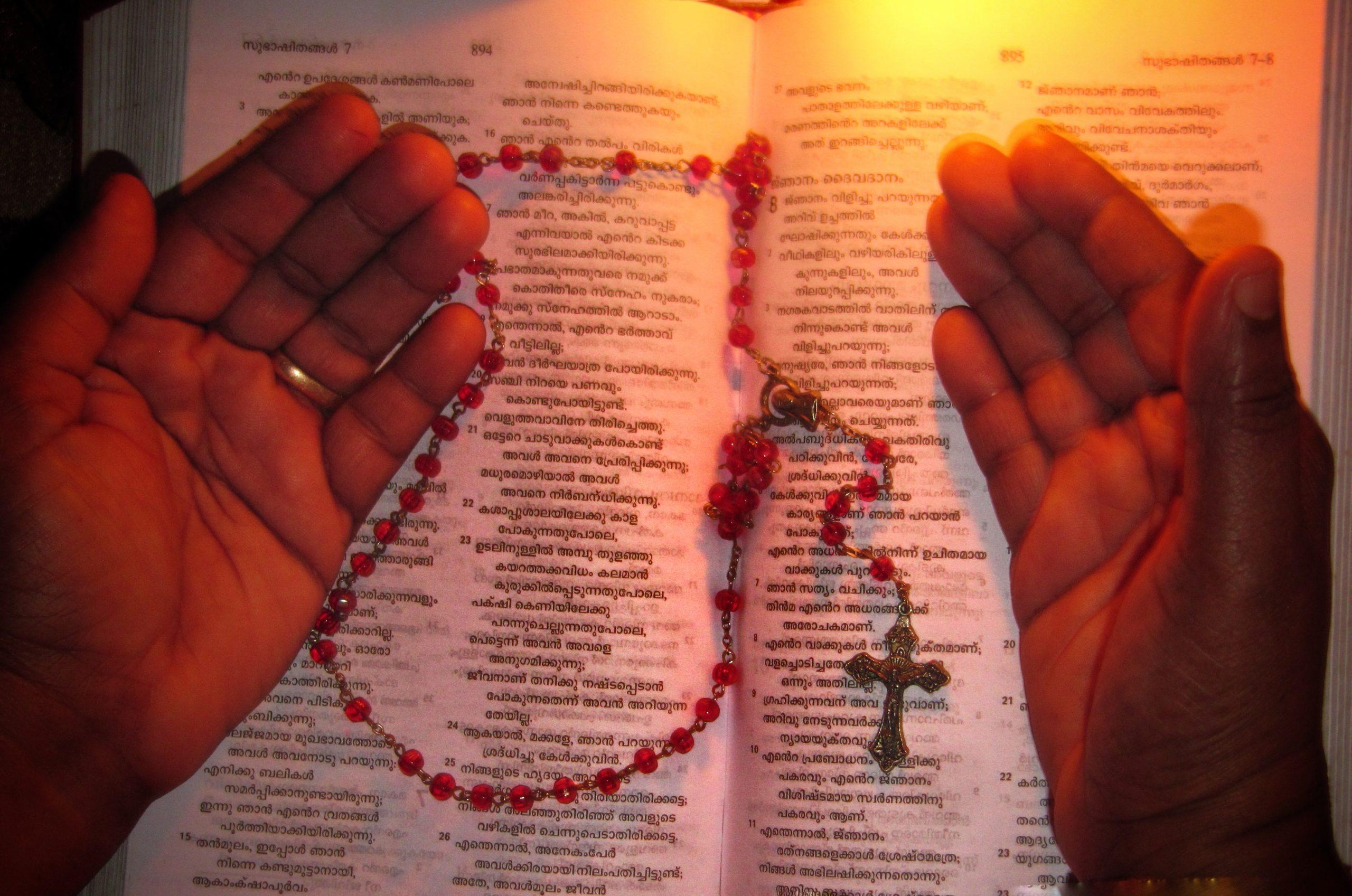 Reading a religious book