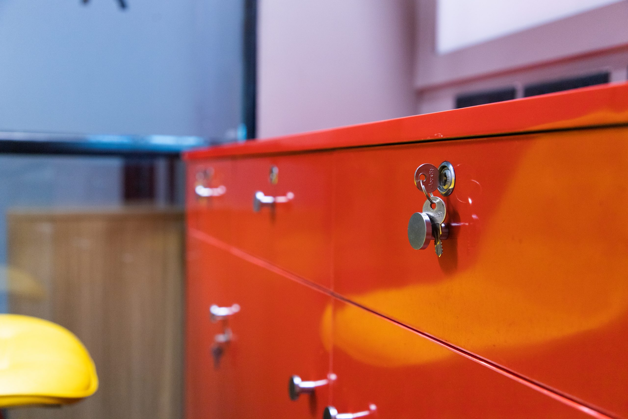 Red drawer