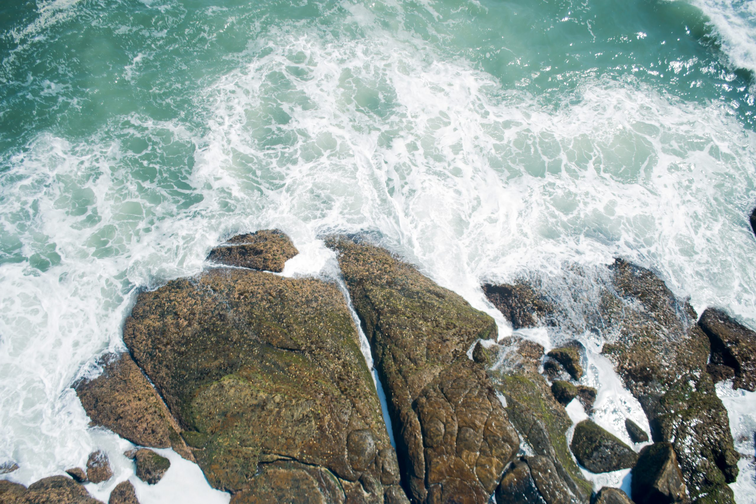 Sea waves touching the rocks