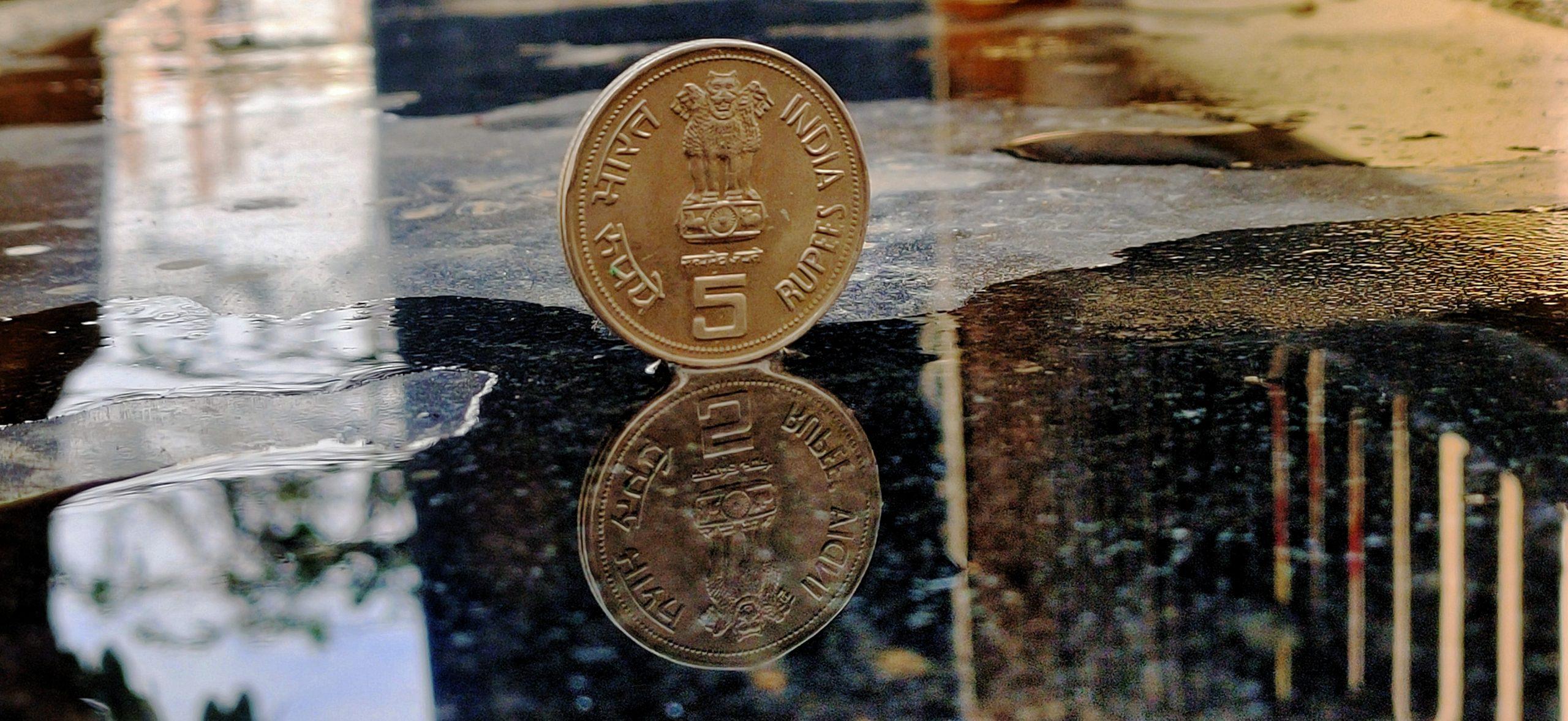 coin reflection
