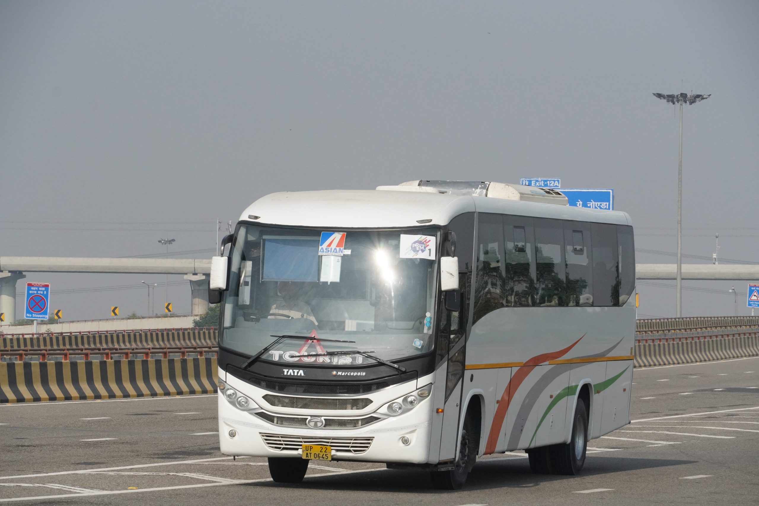 bus on a road
