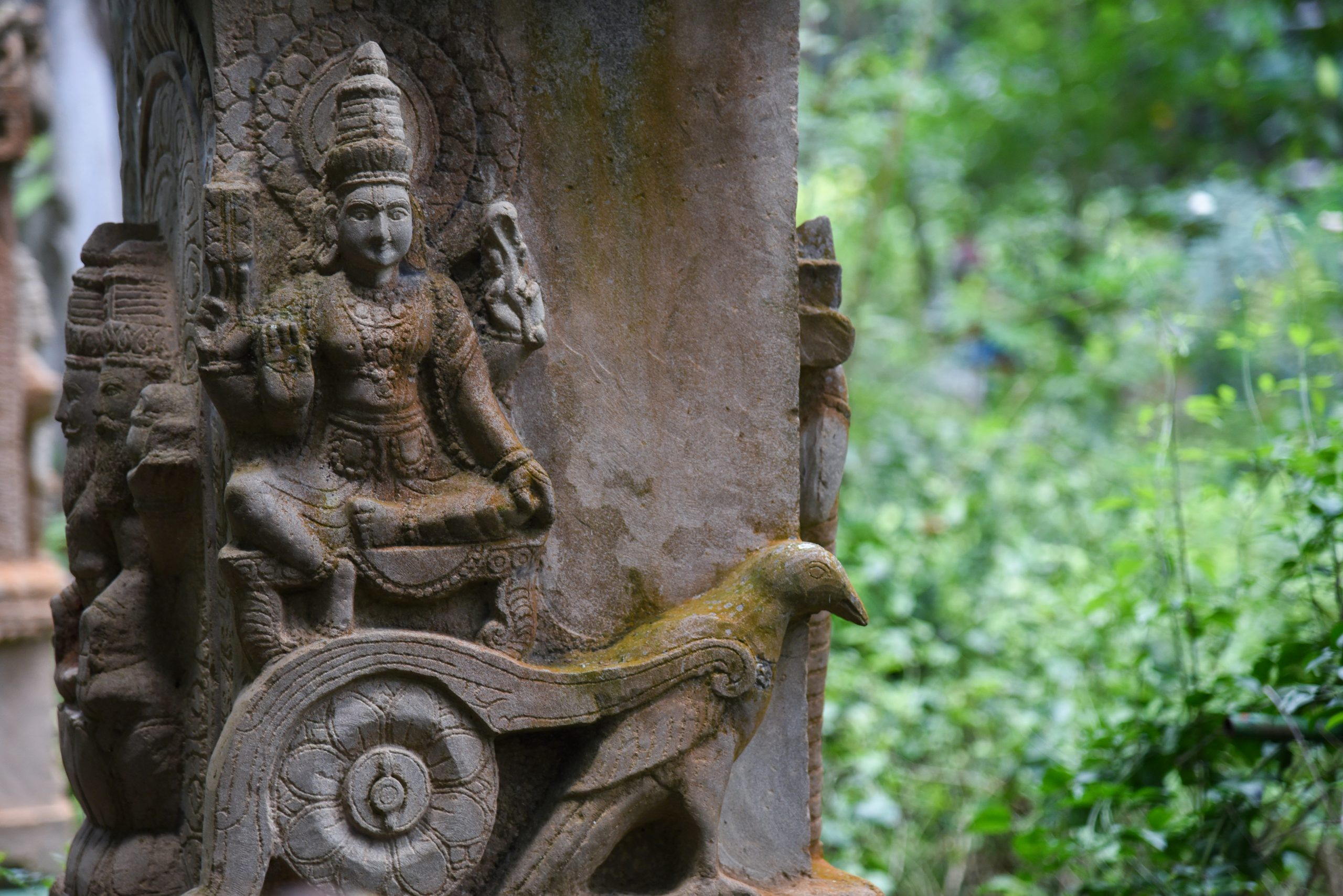 Stone carving at a temple