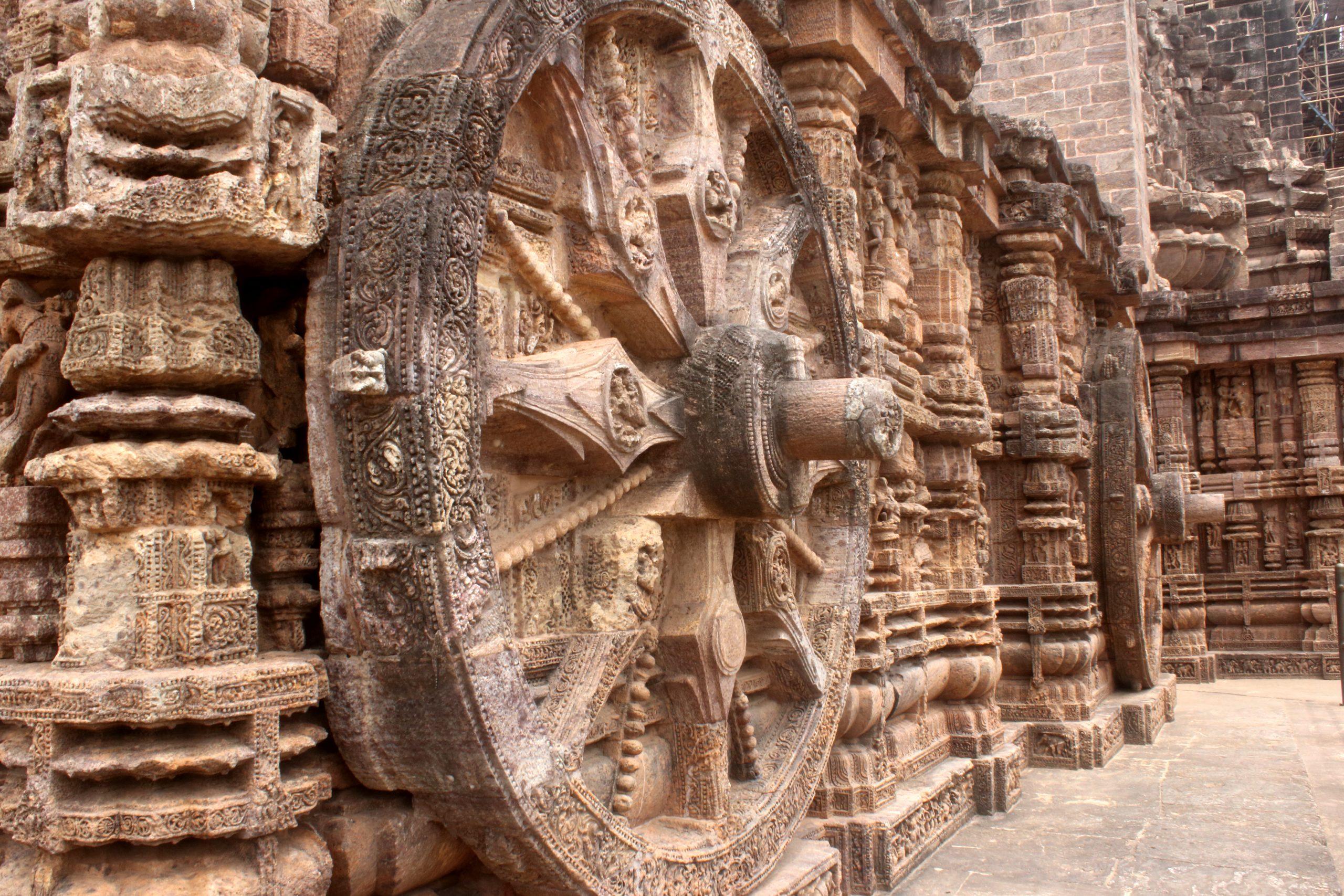 Stone carving of Sun Temple Konark