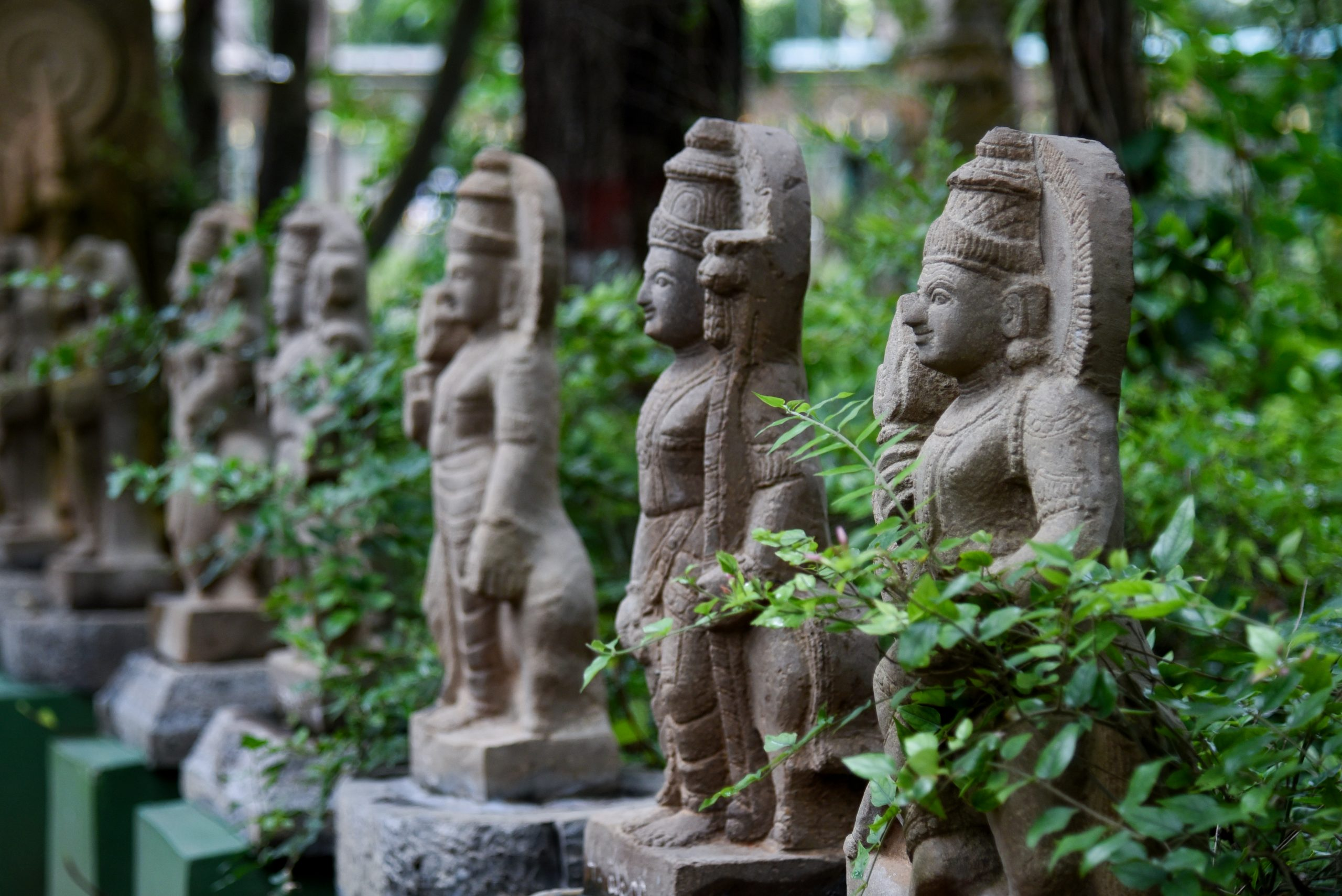 Stone carving statues