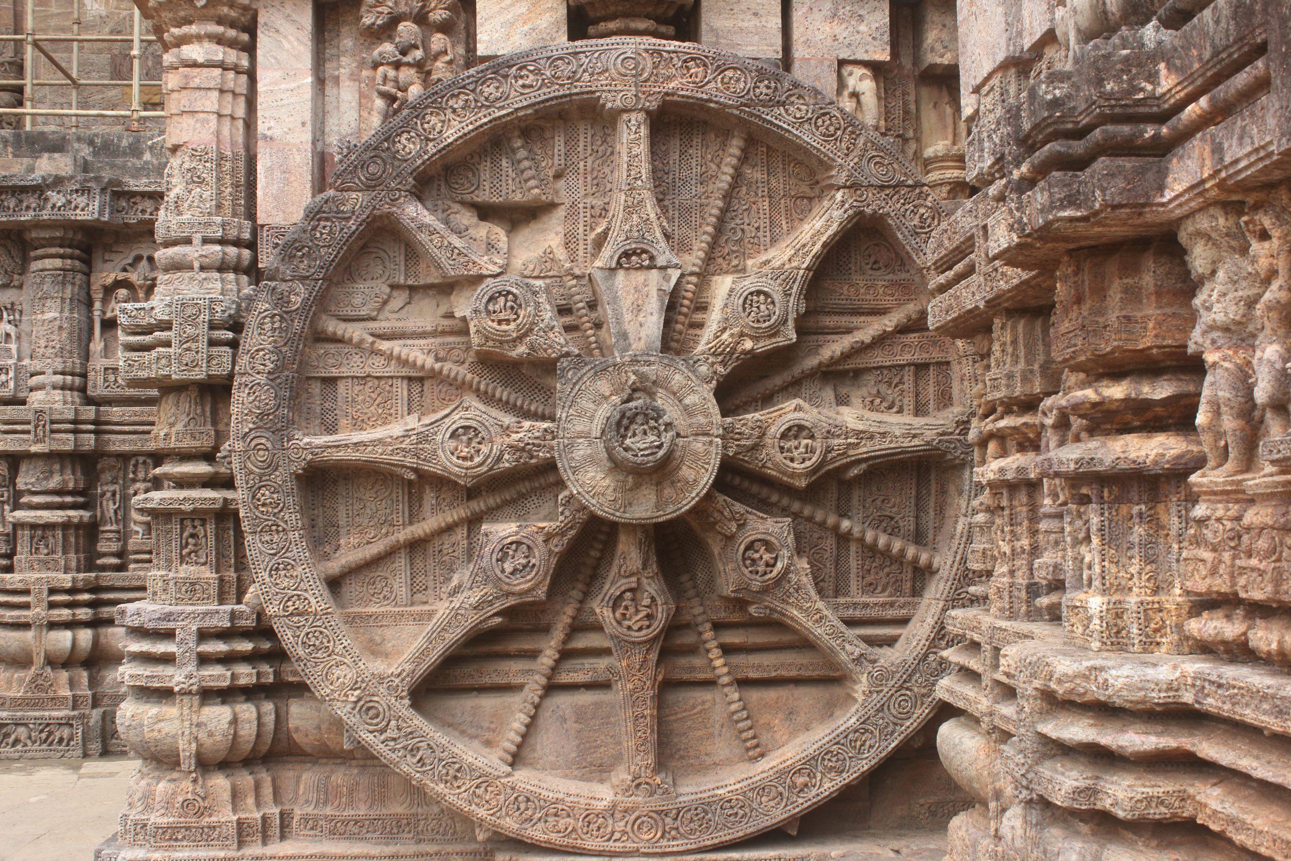 Stone wheel at Konark Sun Temple
