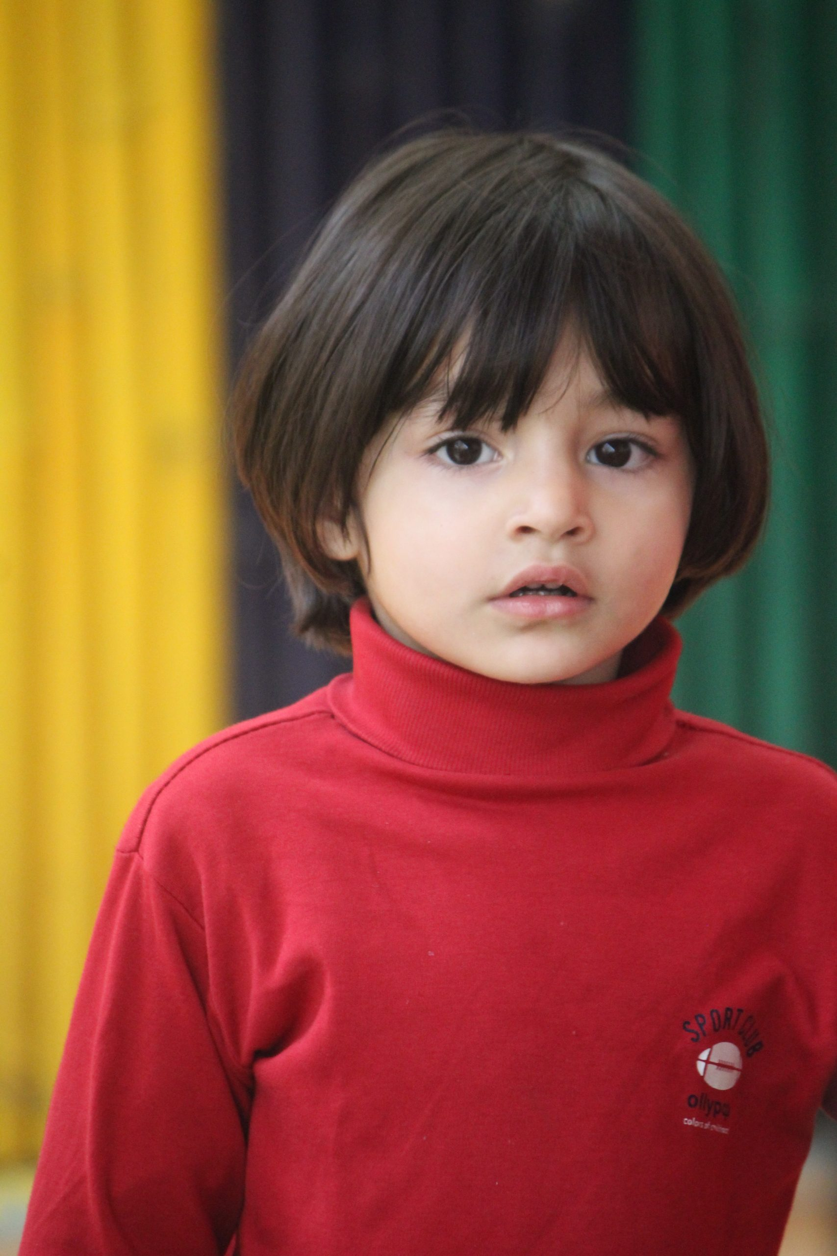 A young kid at school