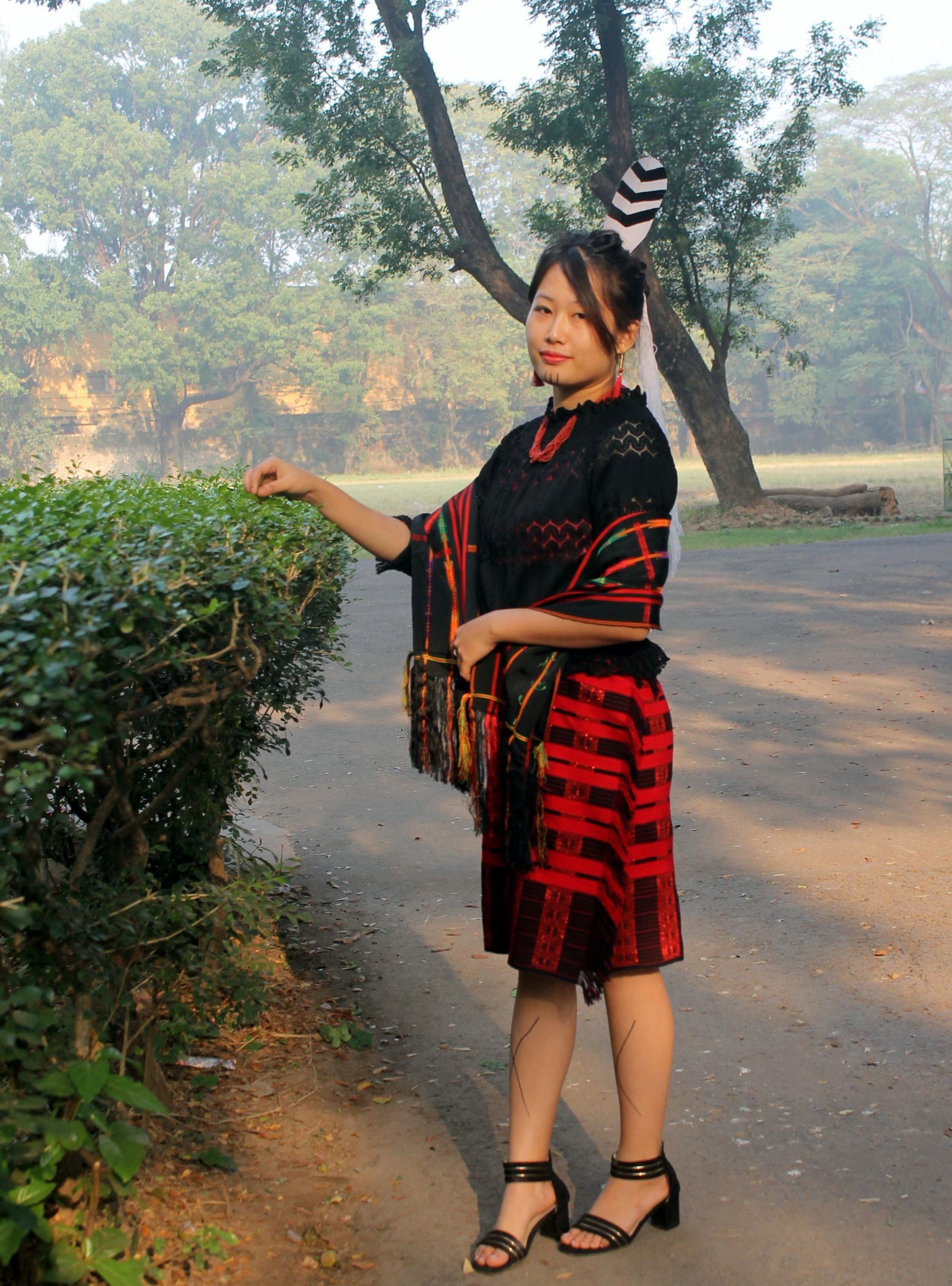 Woman in traditional dress