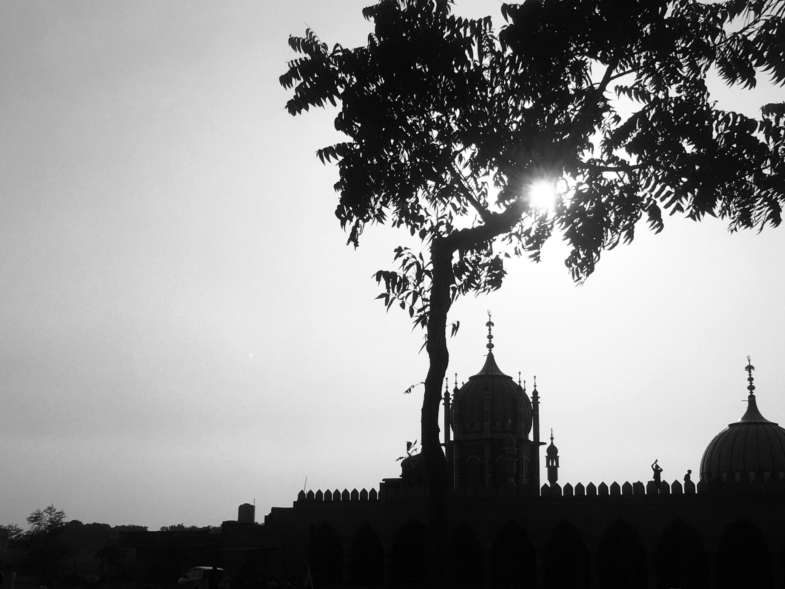 Sunset over a Gurudwara