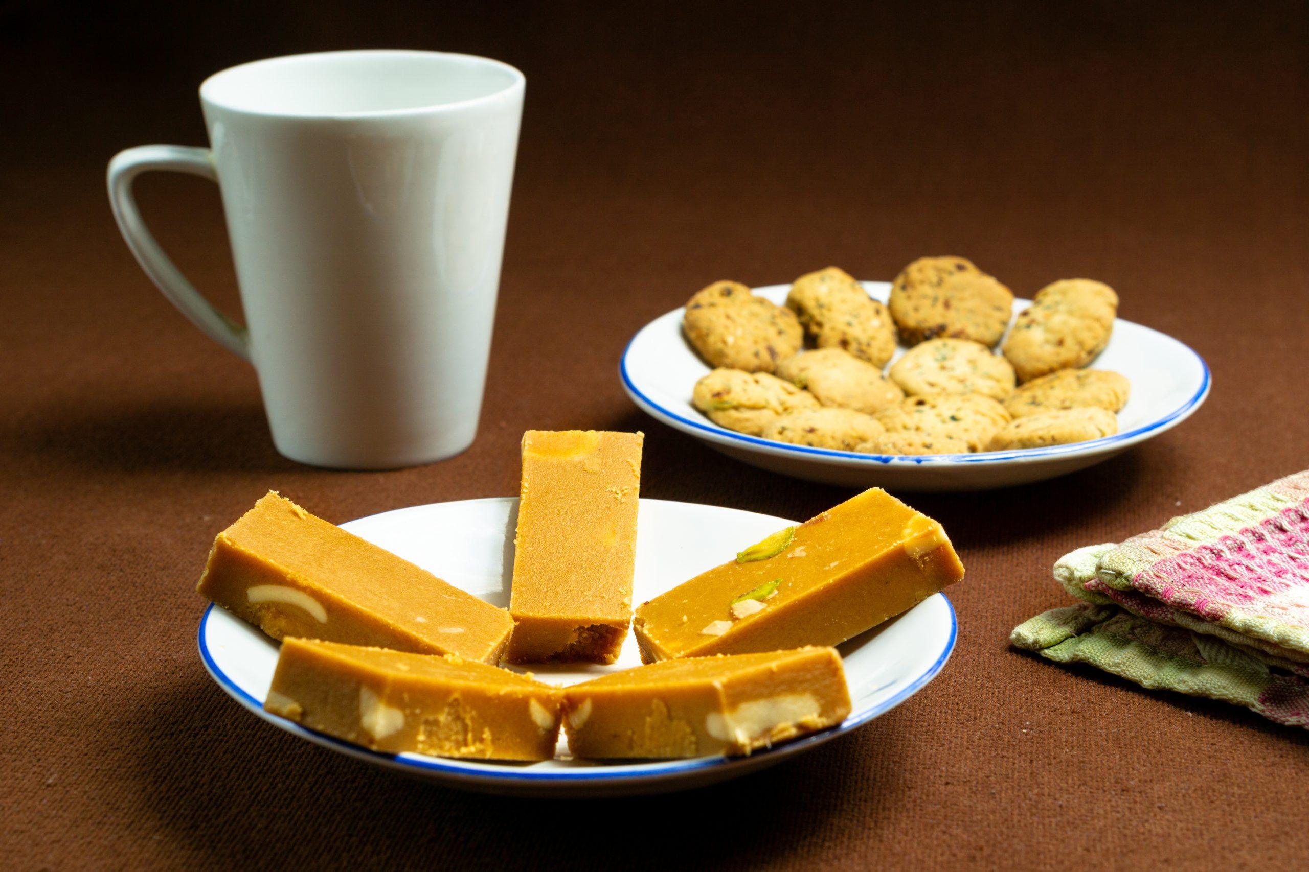 sweets, cookies and mug