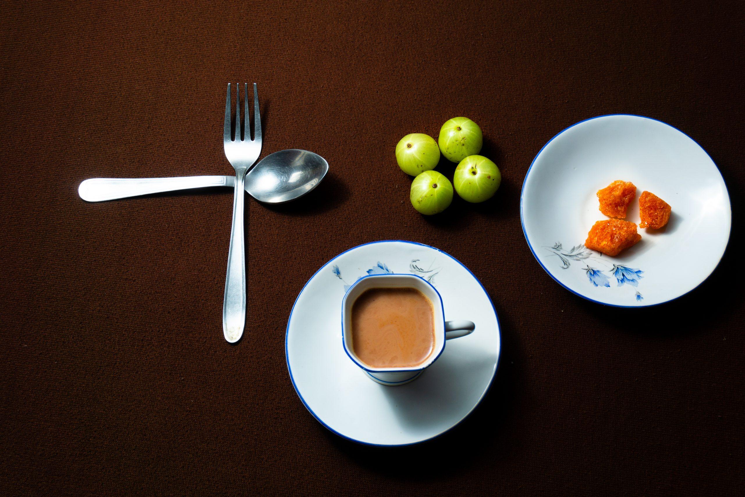 Tea and cutlery