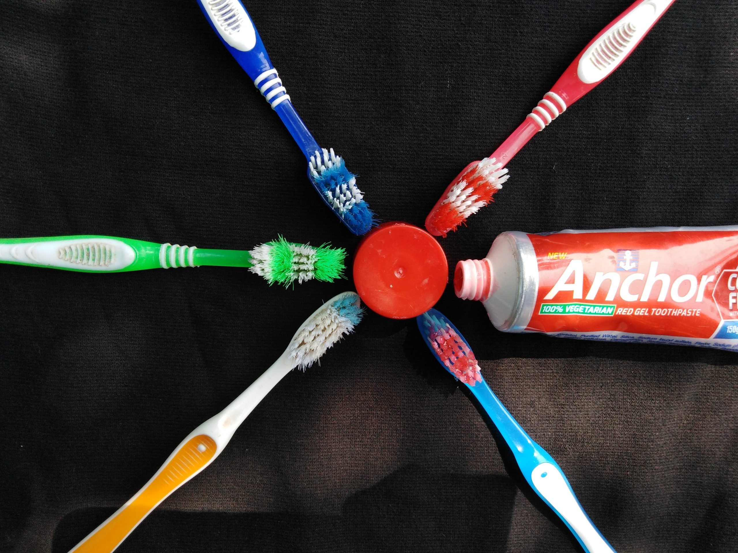 Toothbrushes and paste
