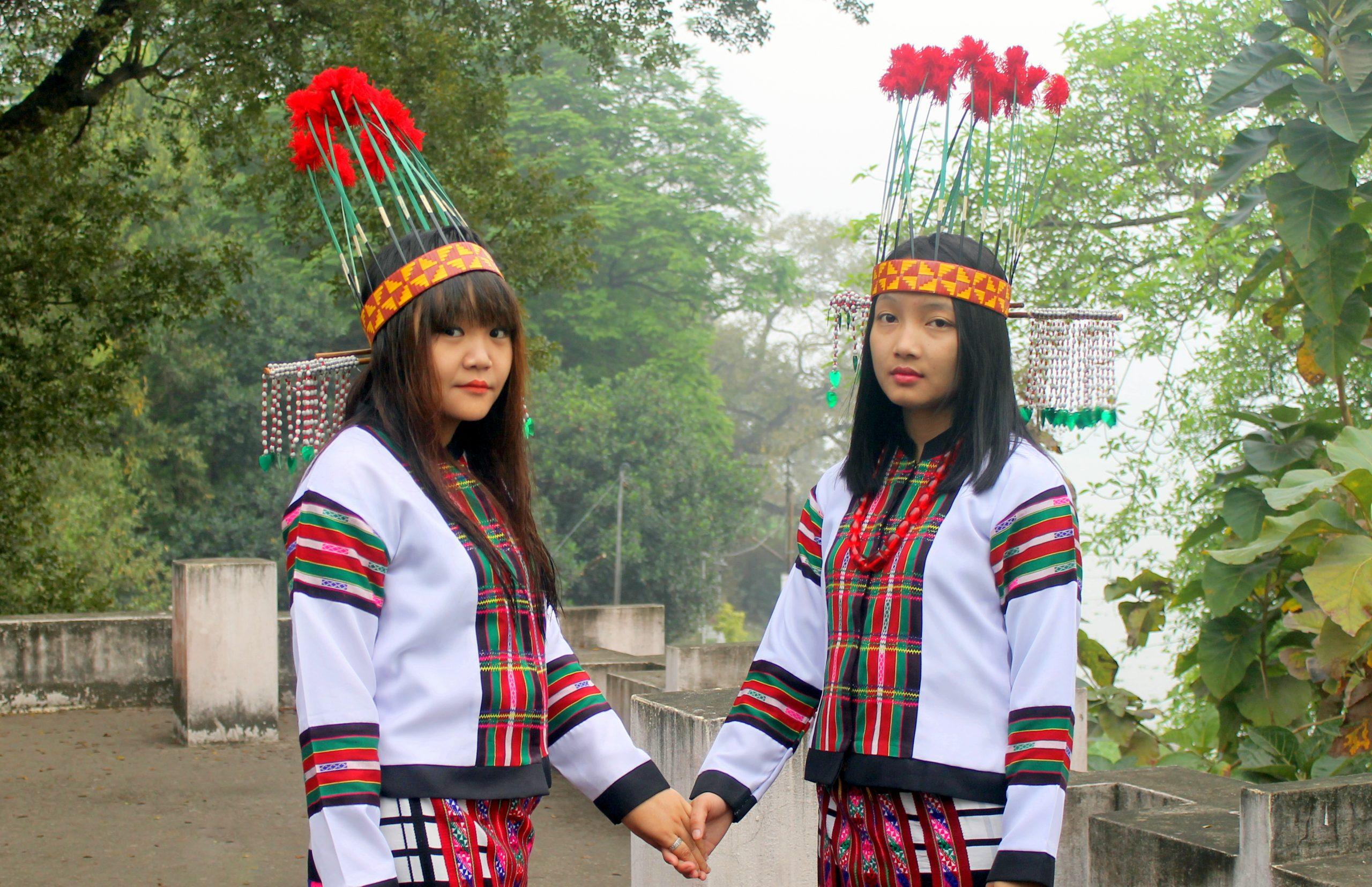 Two beautiful Mizo lady in Traditional dress
