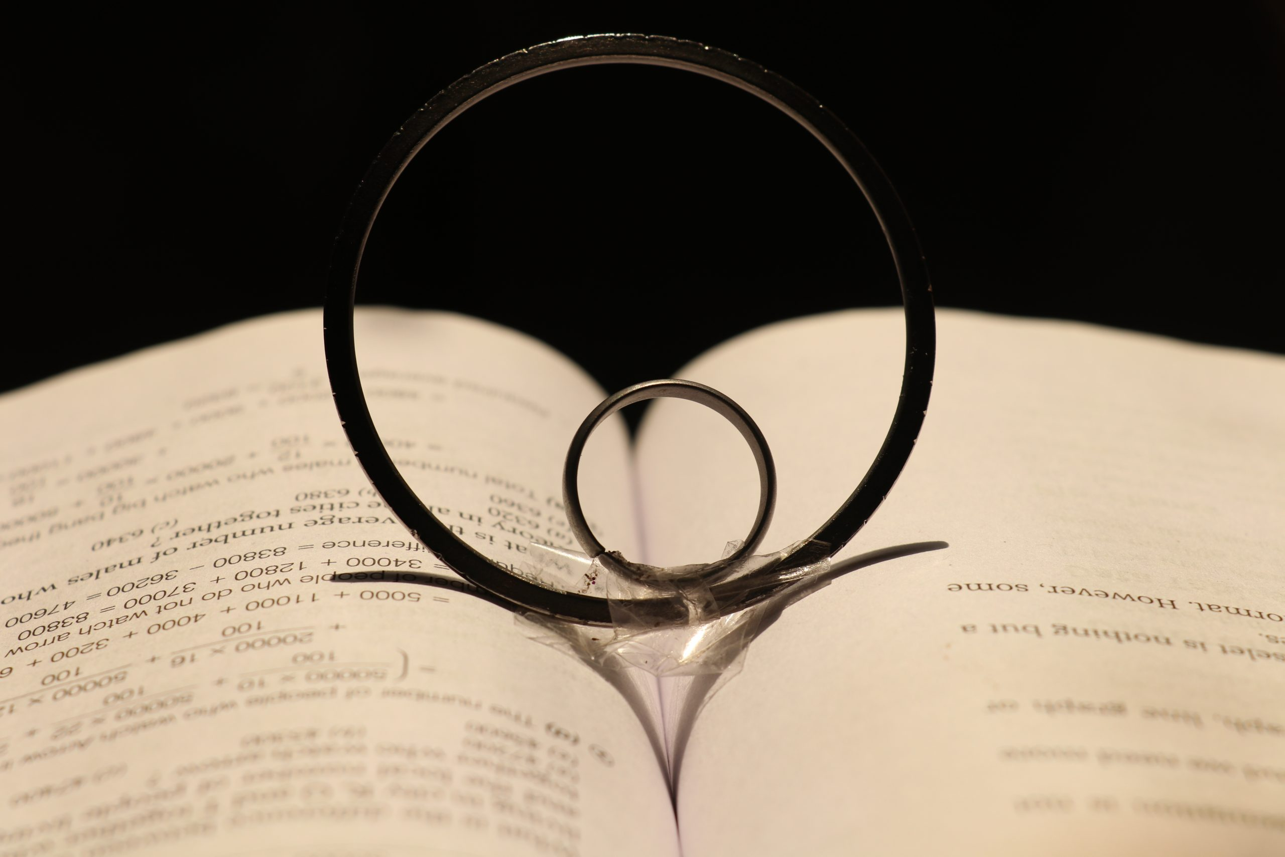 Two rings on a book