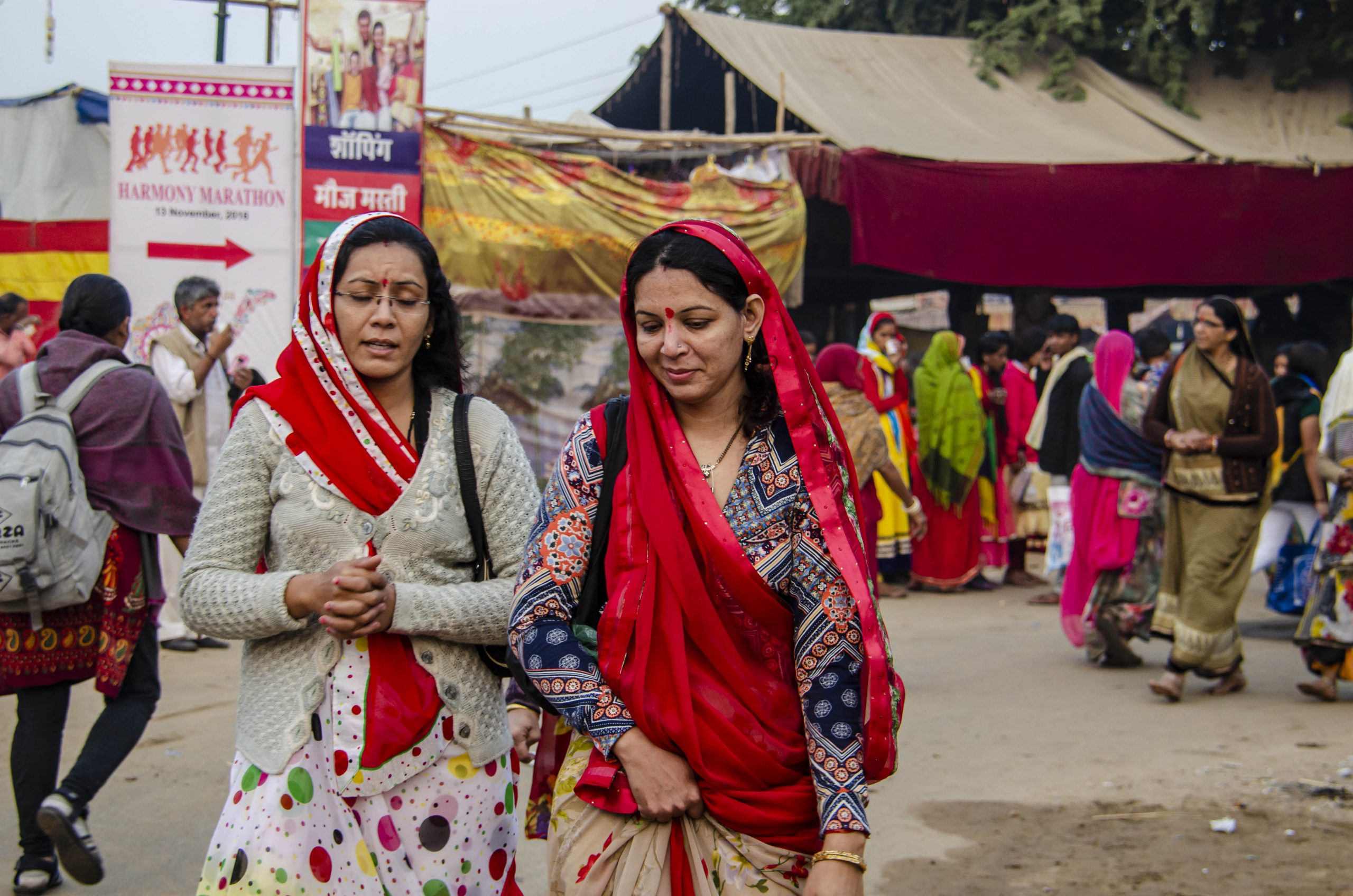 Two women in a village fair