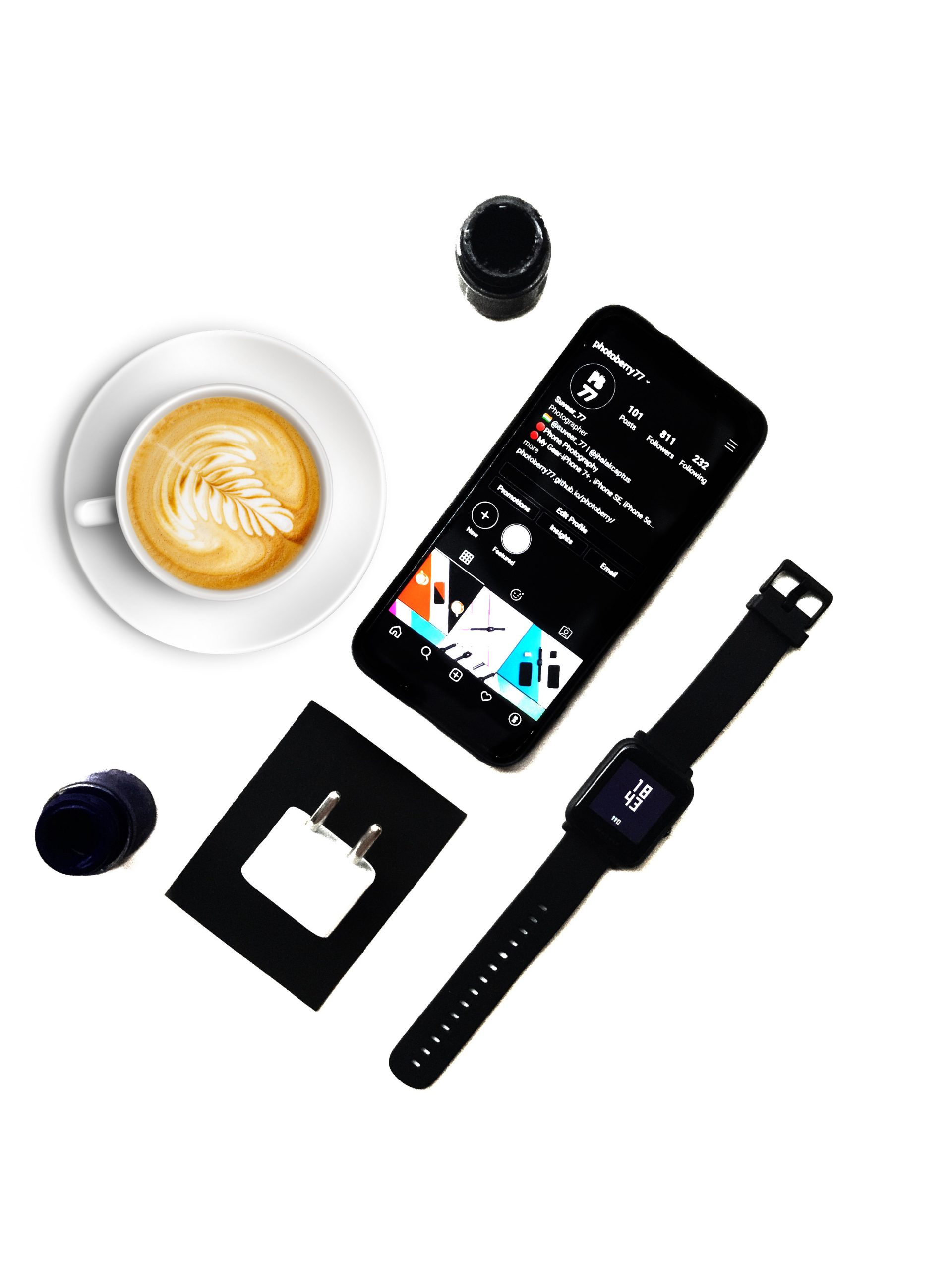 Electronics and coffee.
