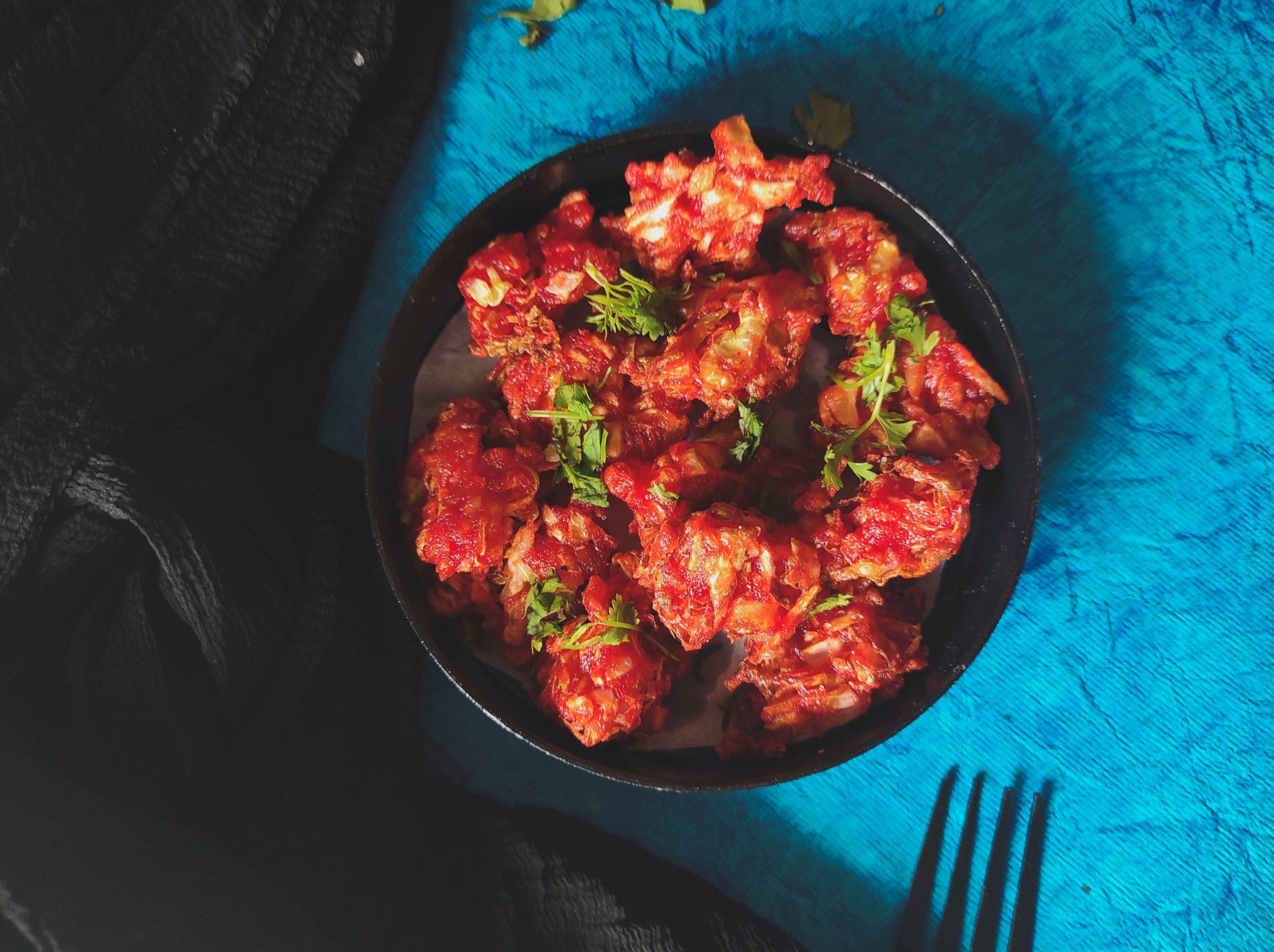 Veg Manchurian in a plate