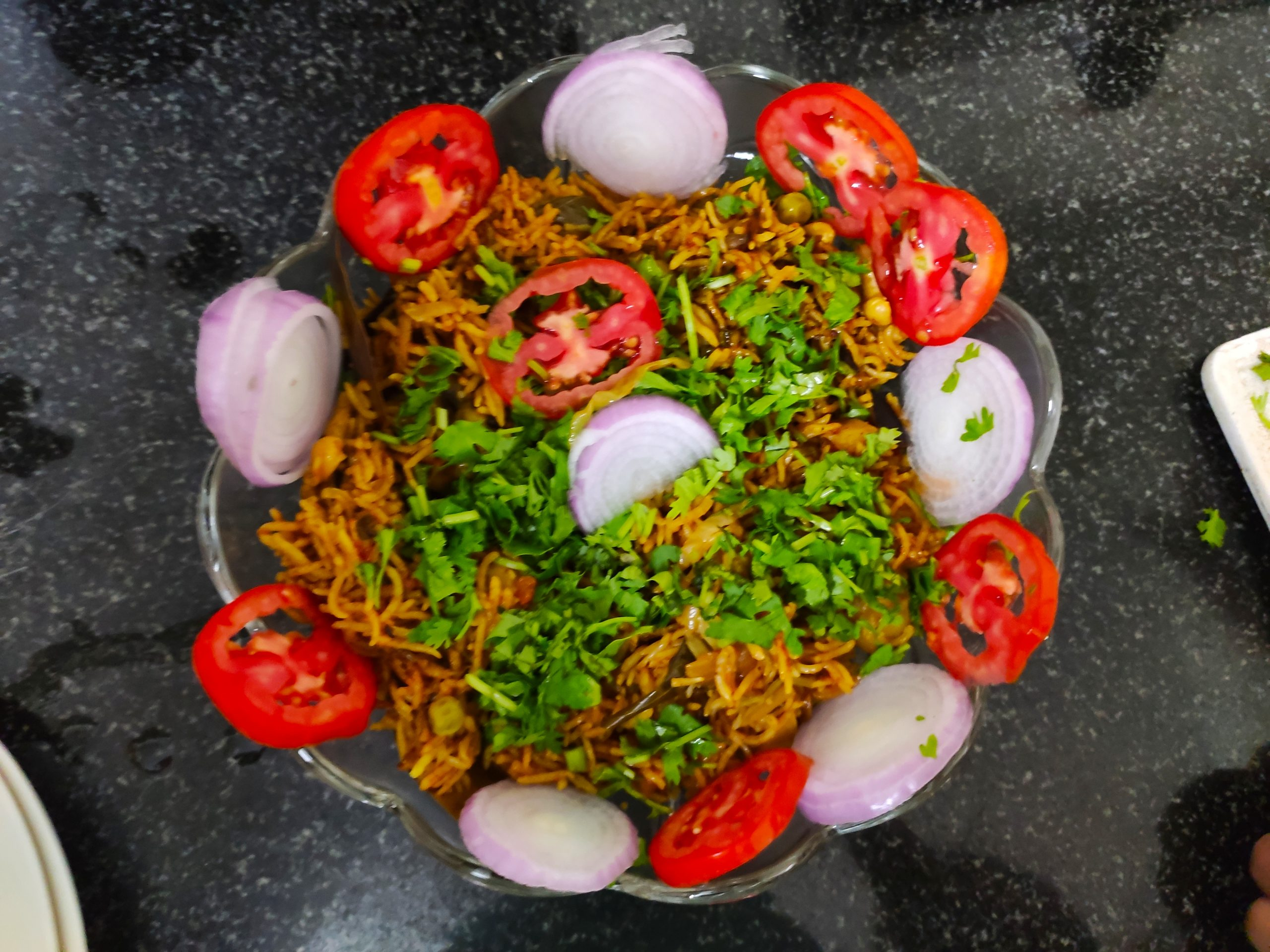 Veg biryani in a bowl