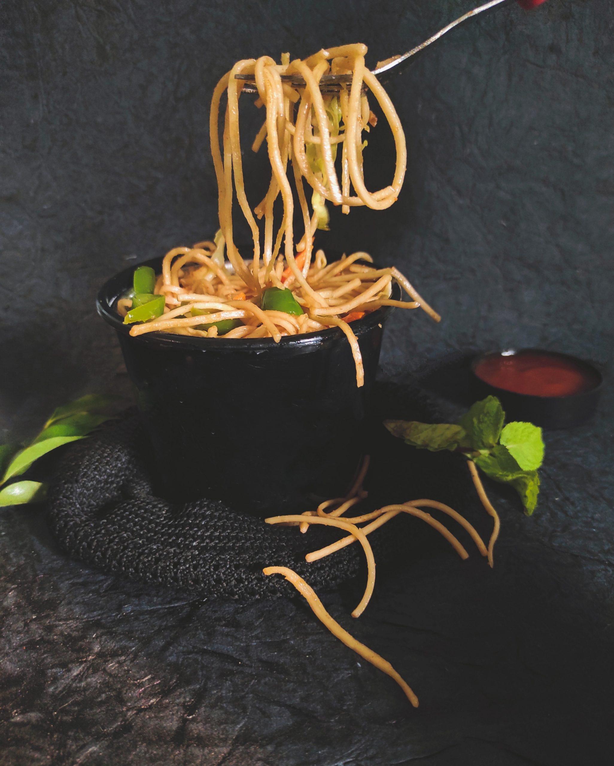 Veg noodles in a bowl