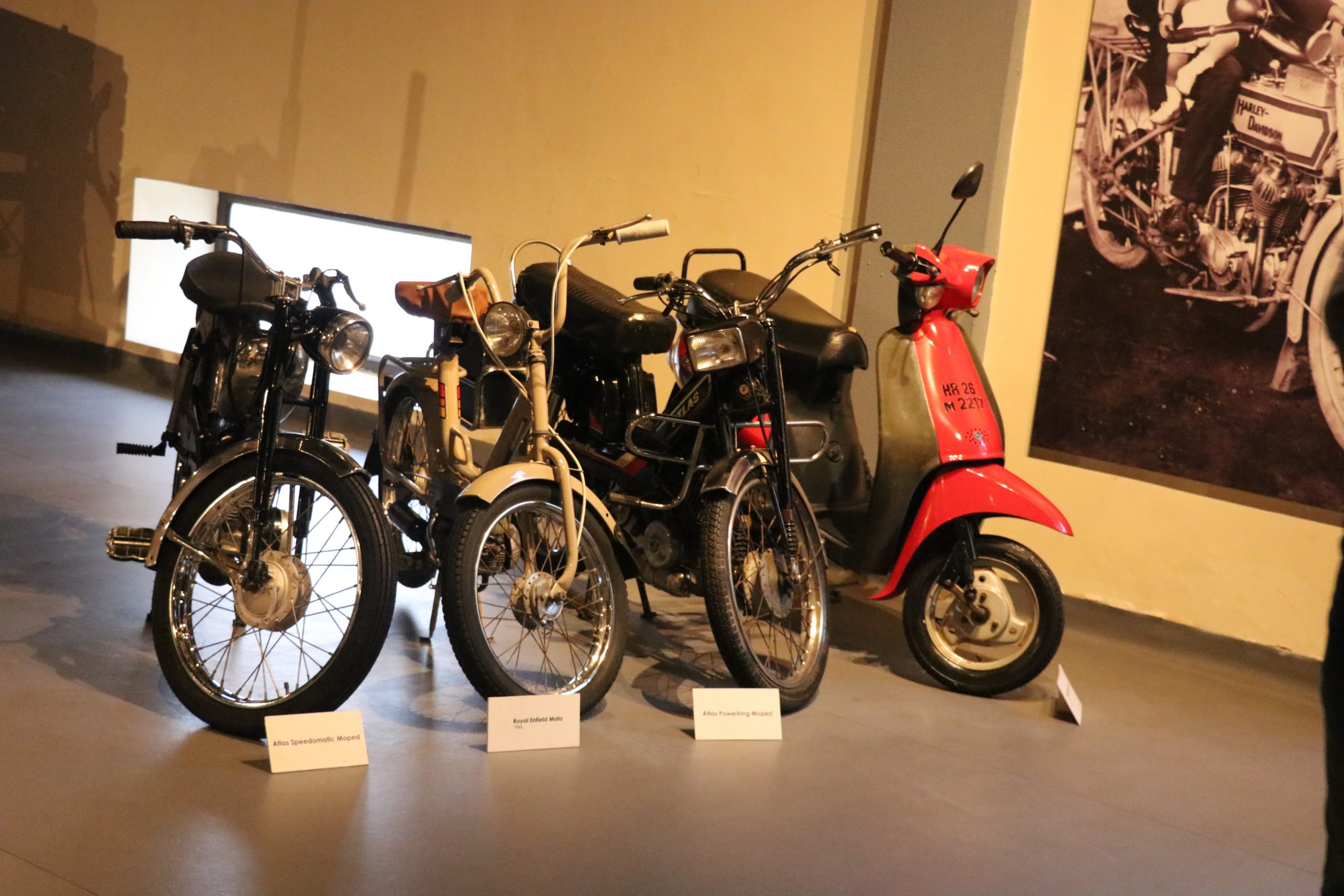 Vintage bikes in the museum