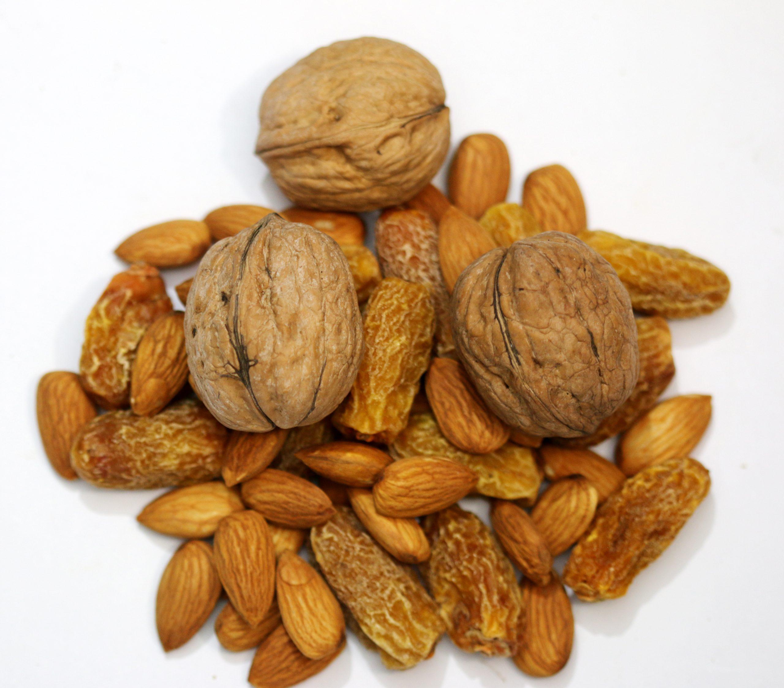 Walnut, dates and almonds